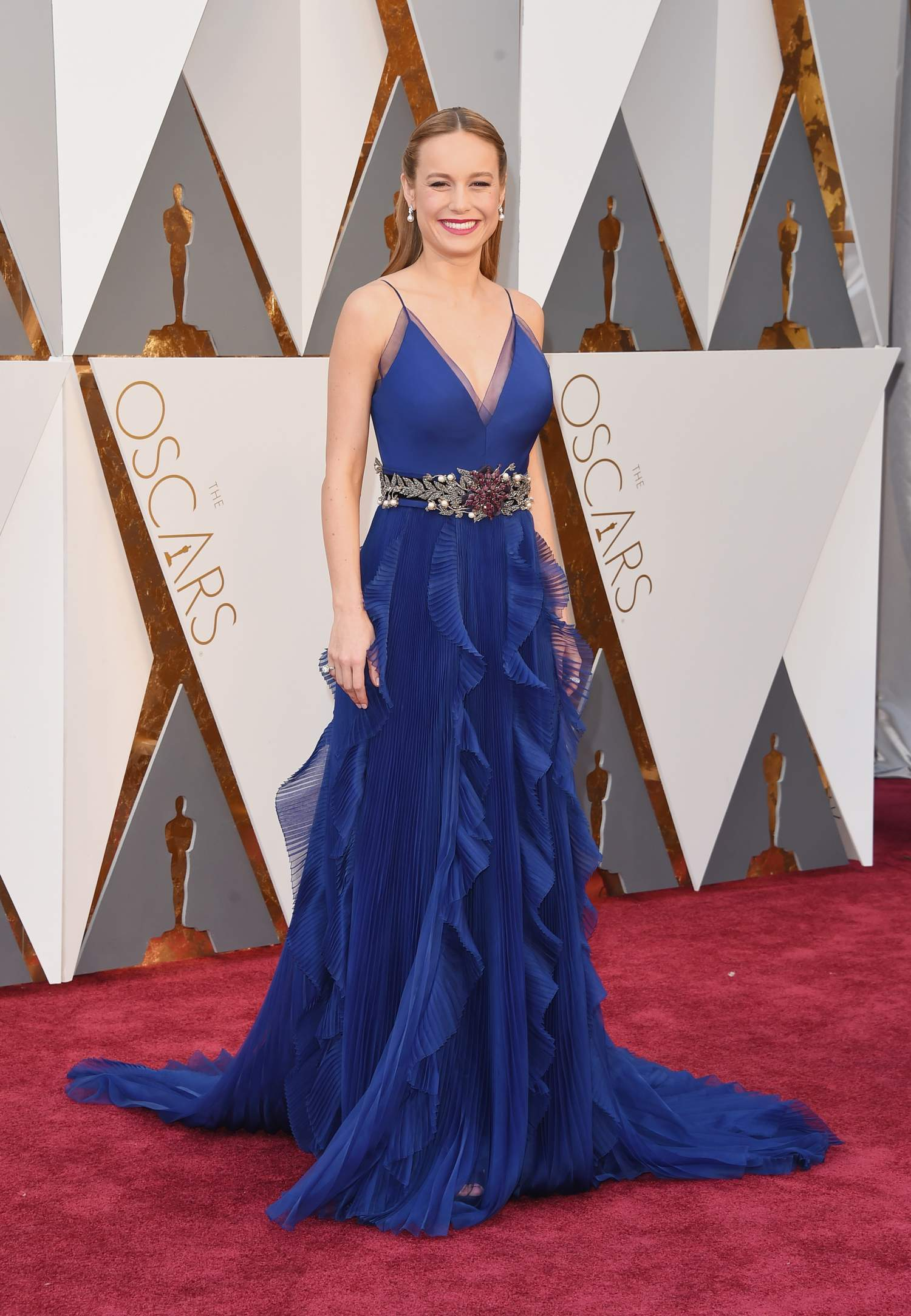 Brie Larson attendse Annual Academy Awards-1