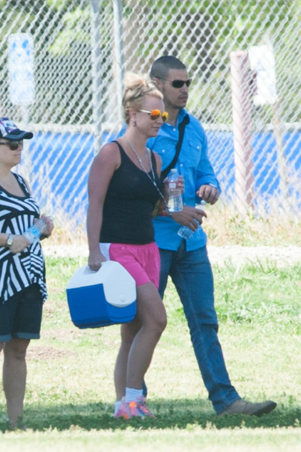 Britney Spears and Iggy Azalea On The Set of Pretty Girls Music Video-1
