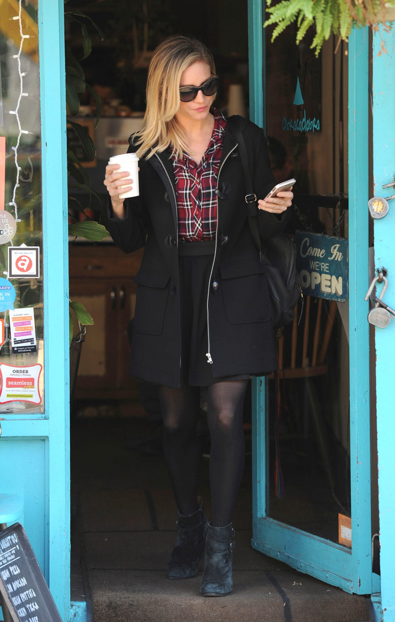 Brittany Snow Shopping in Brooklyn-1