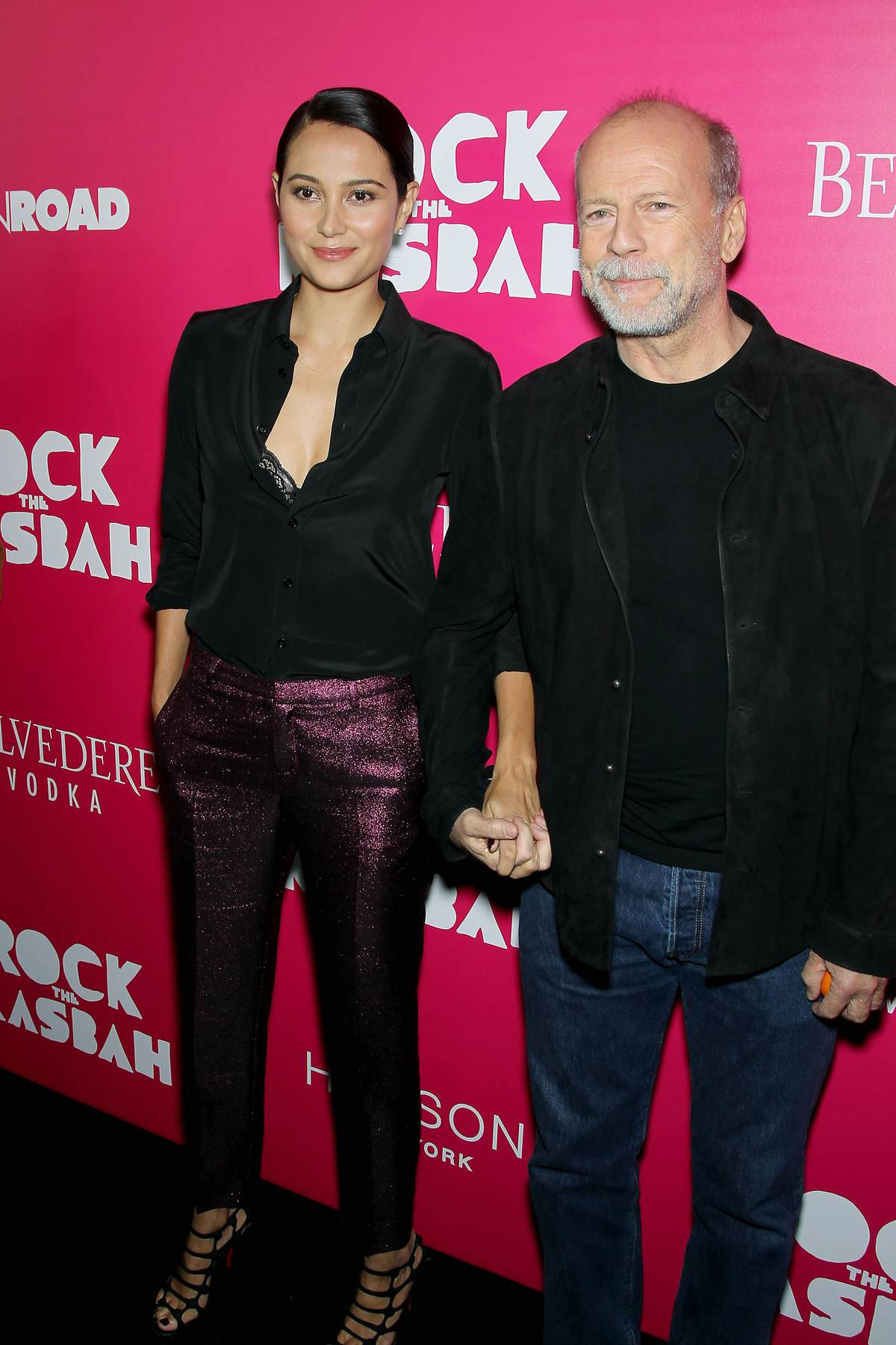 Bruce Willis With Emma Heming At Rock The Kasbah New York