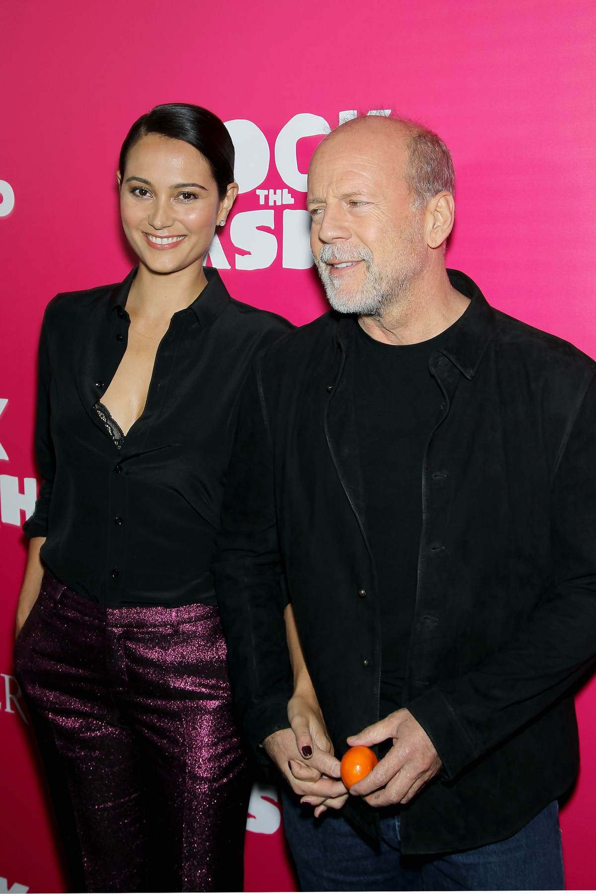Bruce Willis with Emma... Bradley Cooper