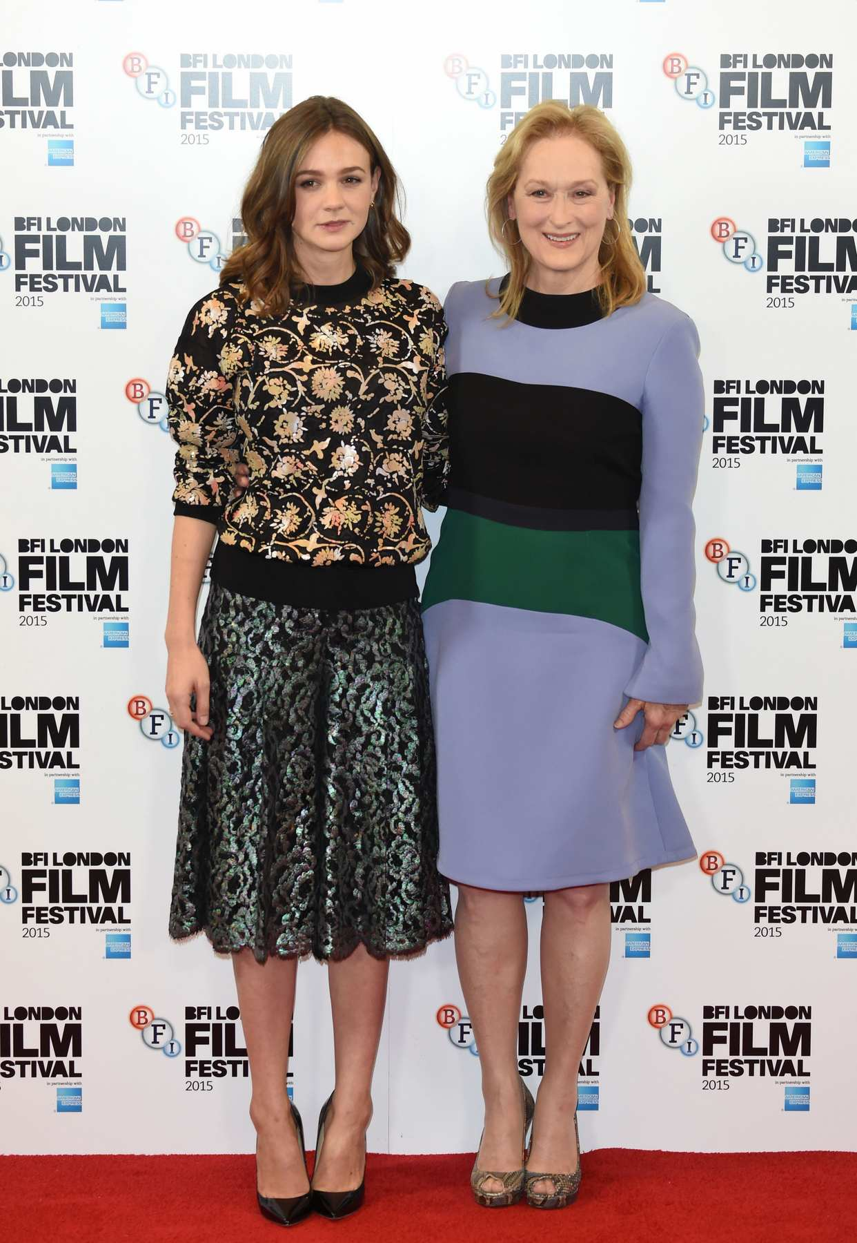 Carey Mulligan and Meryl Streep at BFI LFF Suffragette Premiere and Photocall