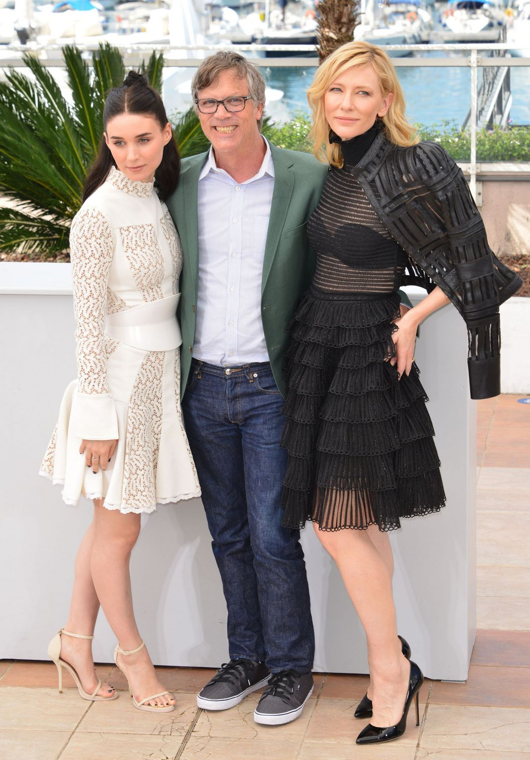 Cate Blanchett and Rooney Mara at Annual Cannes Film Festival Carol photocall-1