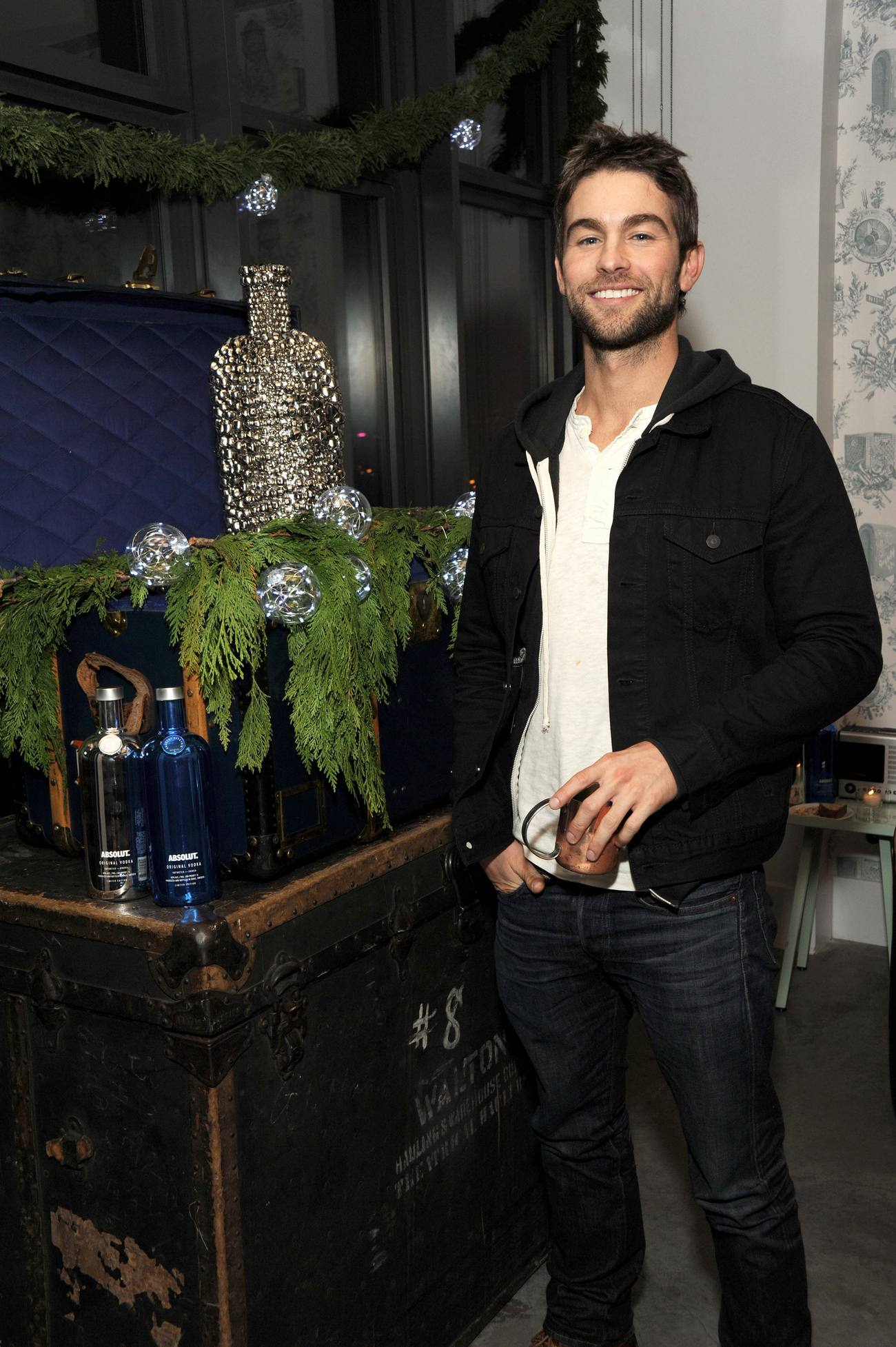 Chace Crawford Celebrates NYC Holiday Party-1