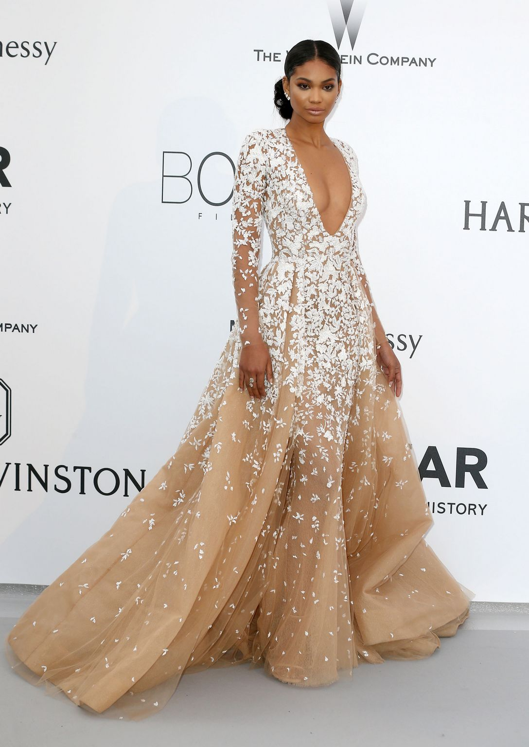 Chanel Iman at amfARs Cinema Against AIDS Gala-1