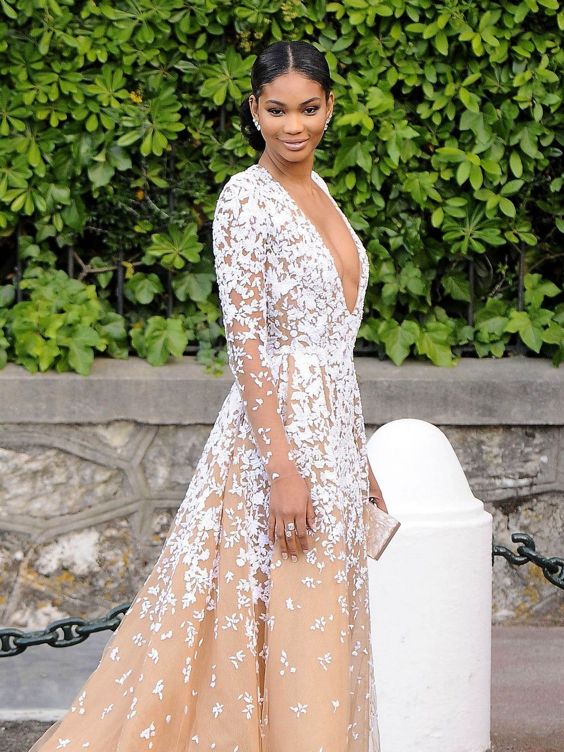 Chanel Iman at amfARs Cinema Against AIDS Gala-4