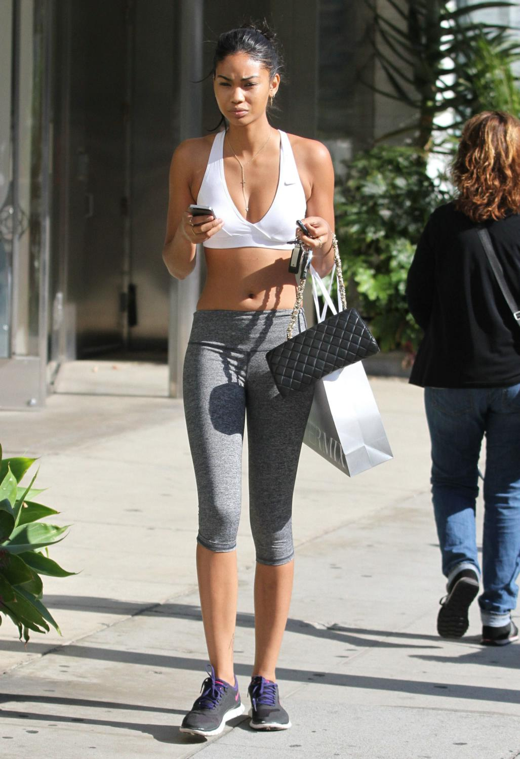 Chanel Iman Shops at Intermix in West Hollywood-1