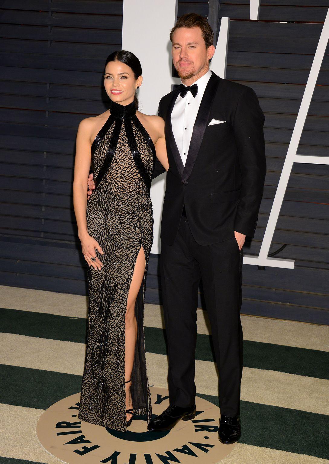 Channing Tatum and Jenna Dewan At Vanity Fair Oscar Party-1