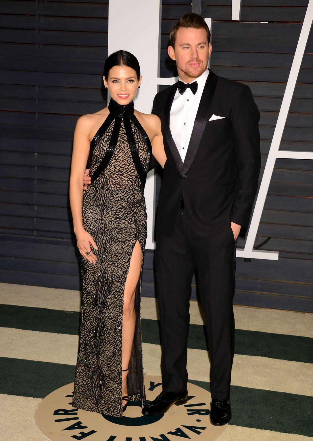 Channing Tatum and Jenna Dewan At Vanity Fair Oscar Party-2