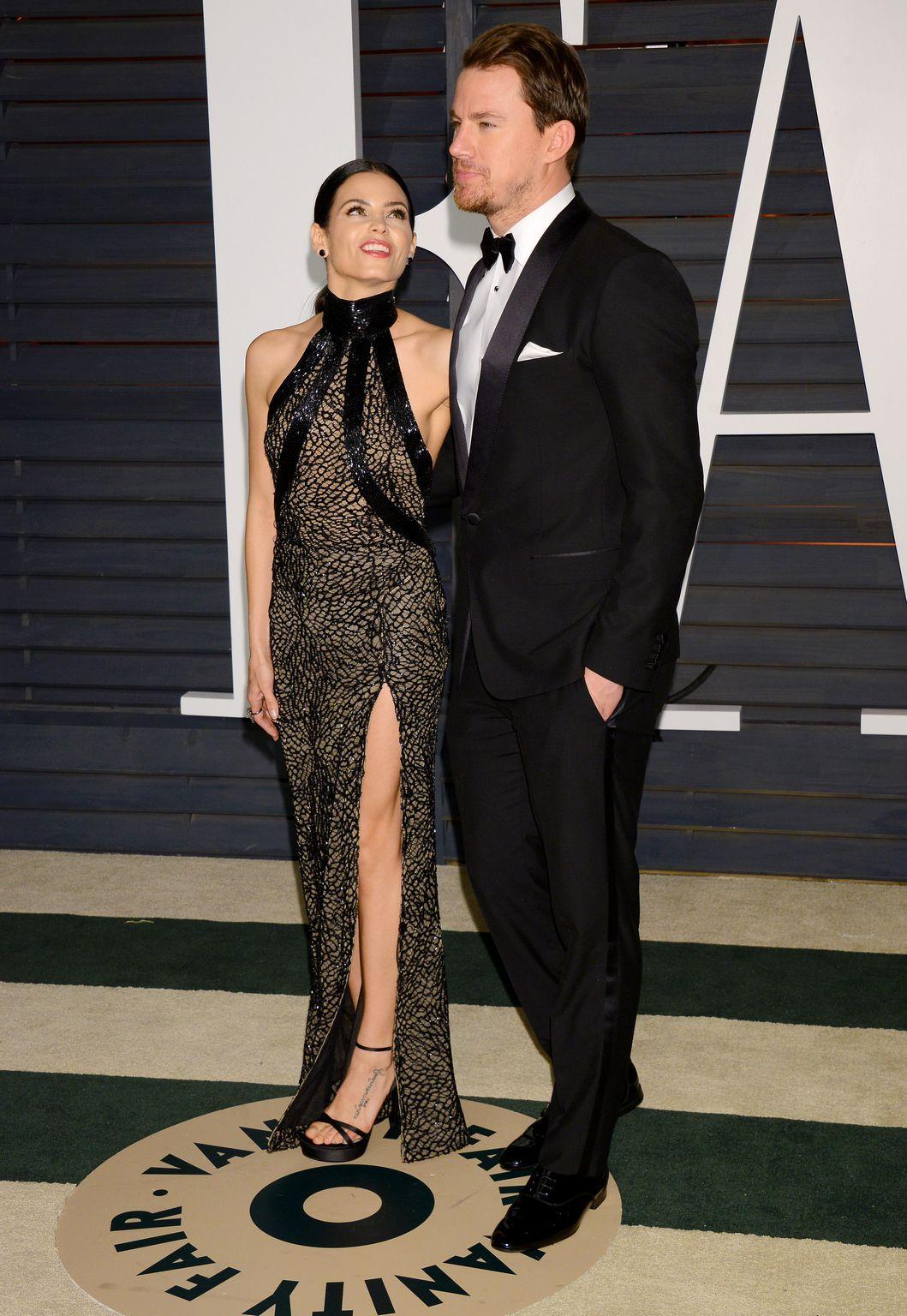 Channing Tatum and Jenna Dewan At Vanity Fair Oscar Party-3