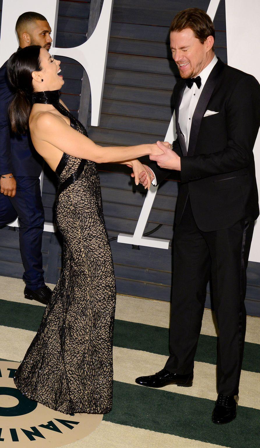 Channing Tatum and Jenna Dewan At Vanity Fair Oscar Party-4