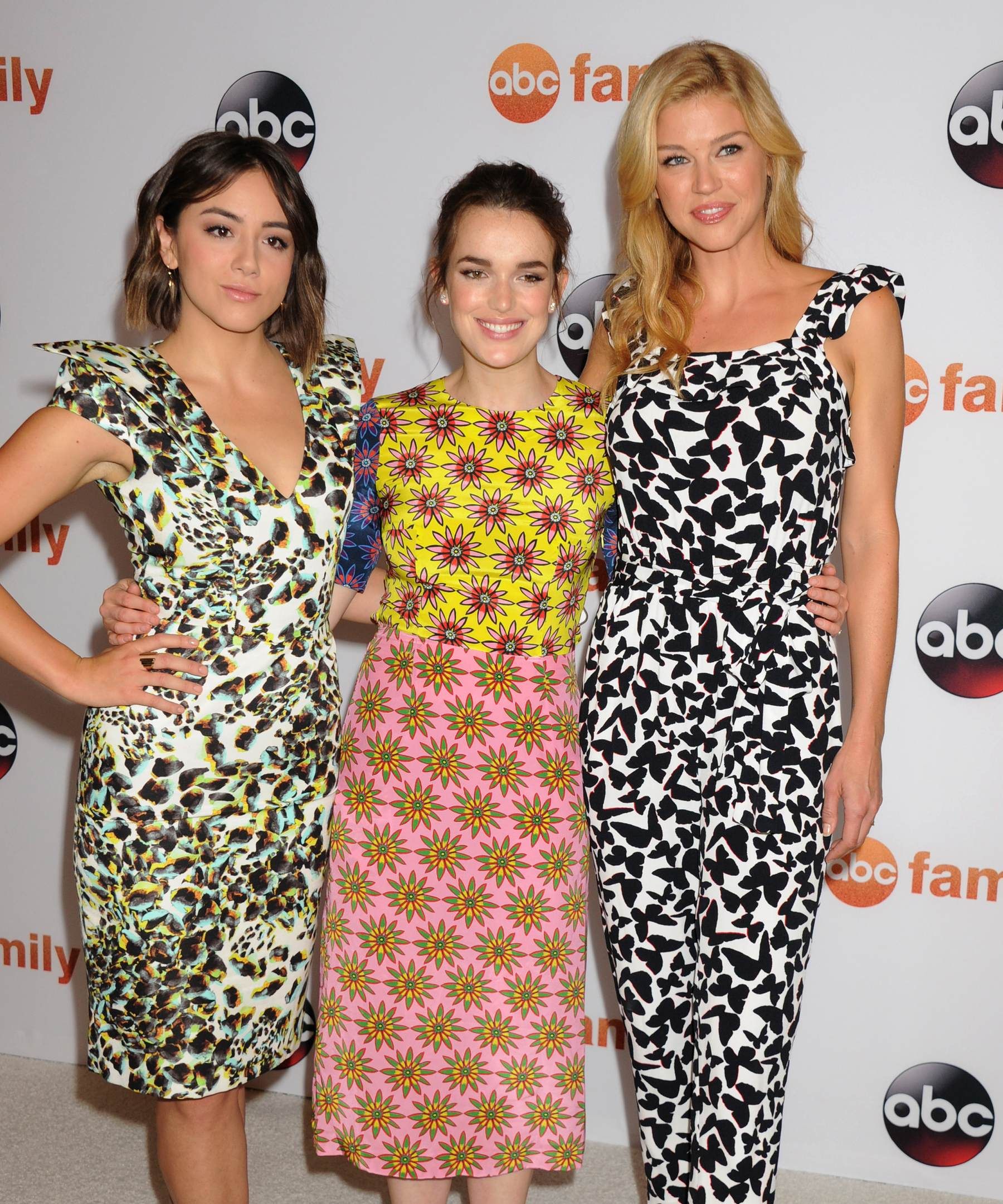 Chloe Bennet, Elizabeth Henstridge and Adrianne Palicki at Disney/ABC TCA Summer Press Tour-3
