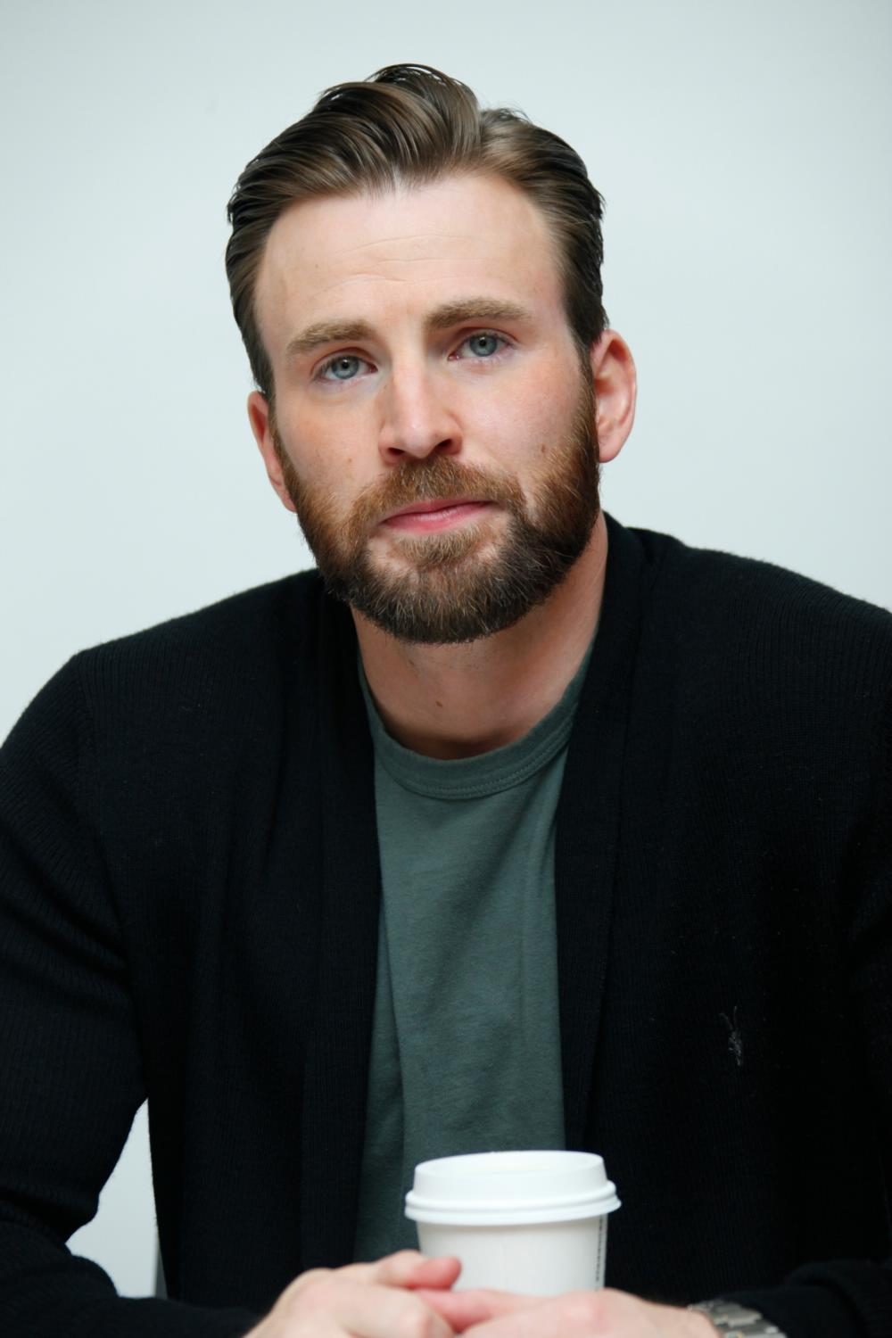 Chris Evans at The Avengers: Age of Ultron Press Conference-1