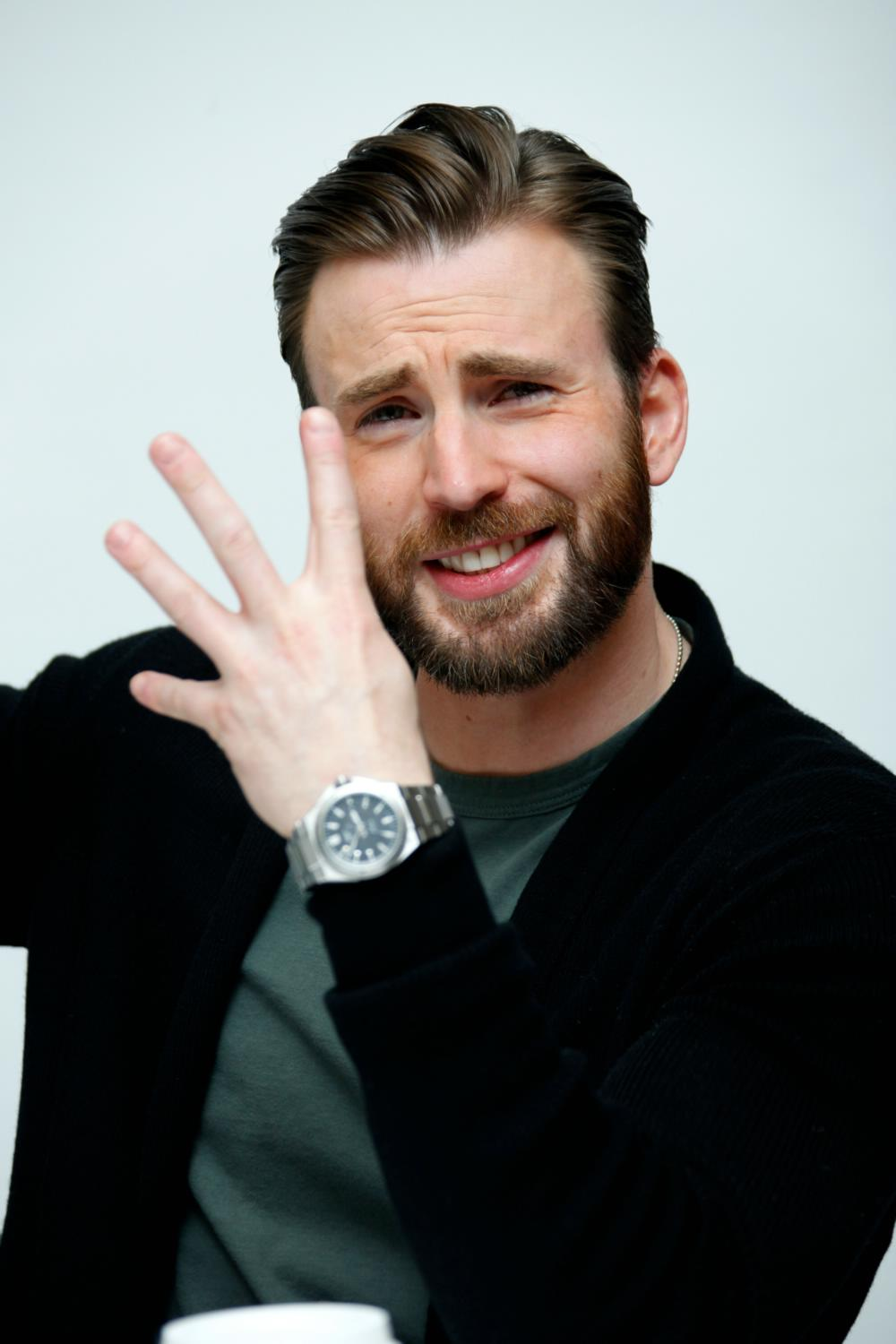 Chris Evans at The Avengers: Age of Ultron Press Conference-2