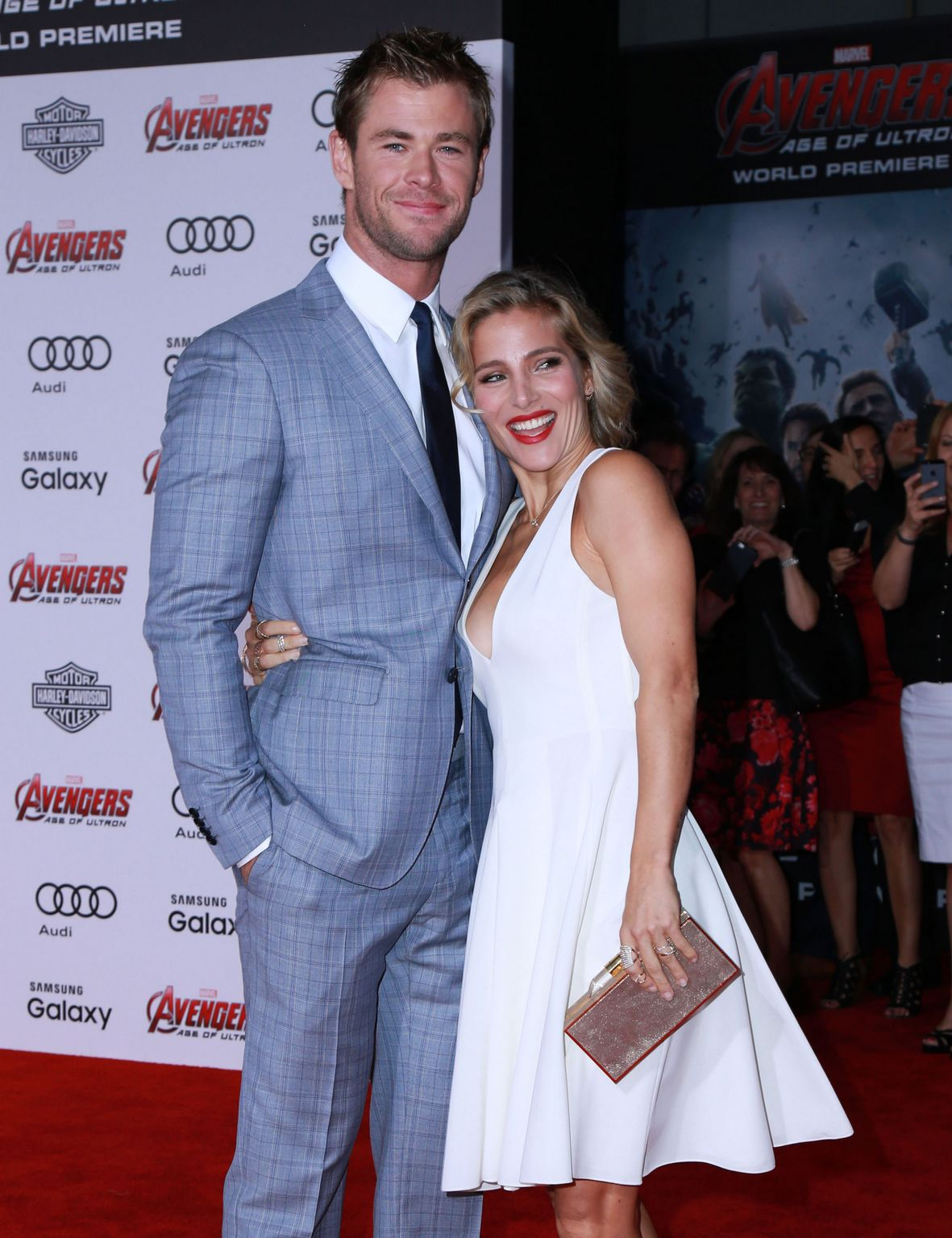 Chris Hemsworth and Elsa Pataky At Avengers: Age Of Ultron Los Angeles Premiere-1