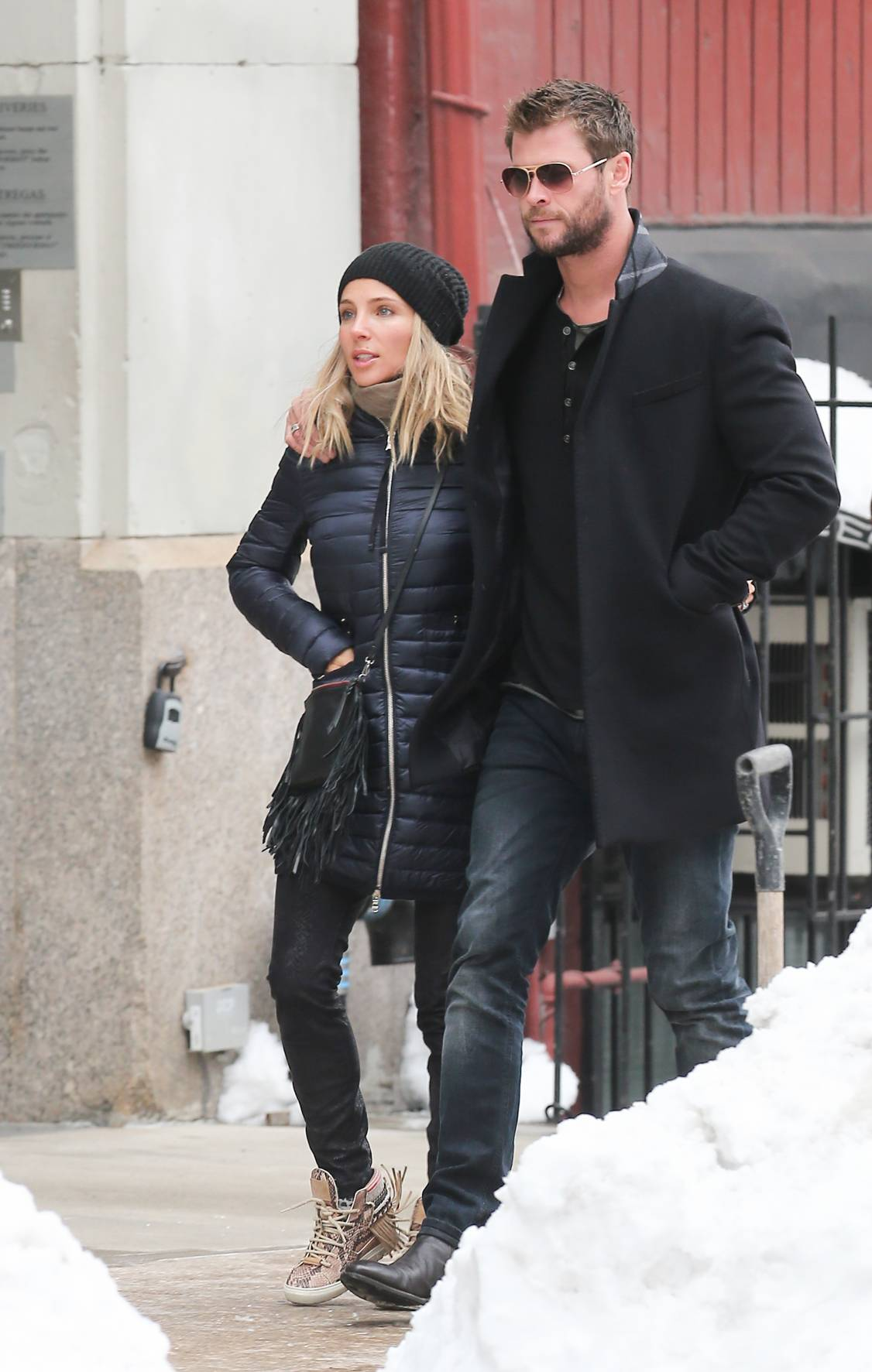 Chris Hemsworth and Elsa Pataky Romantic Stroll in NYC-3