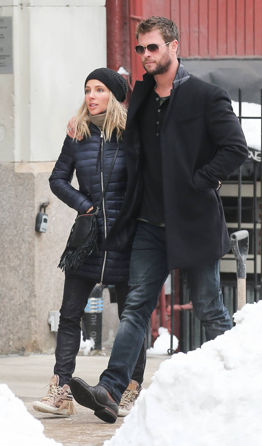 Chris Hemsworth and Elsa Pataky Romantic Stroll in NYC-4