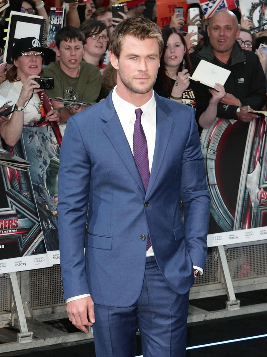 Chris Hemsworth at The Avengers: Age Of Ultron European Premiere-1