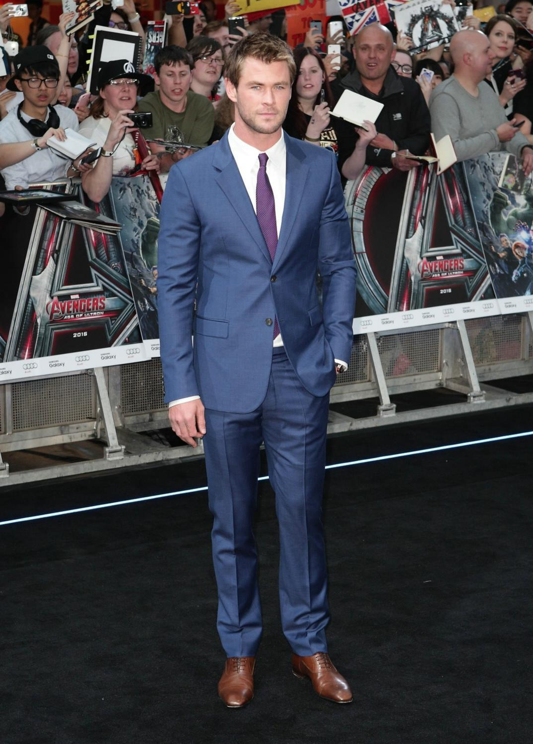Chris Hemsworth at The Avengers: Age Of Ultron European Premiere-4