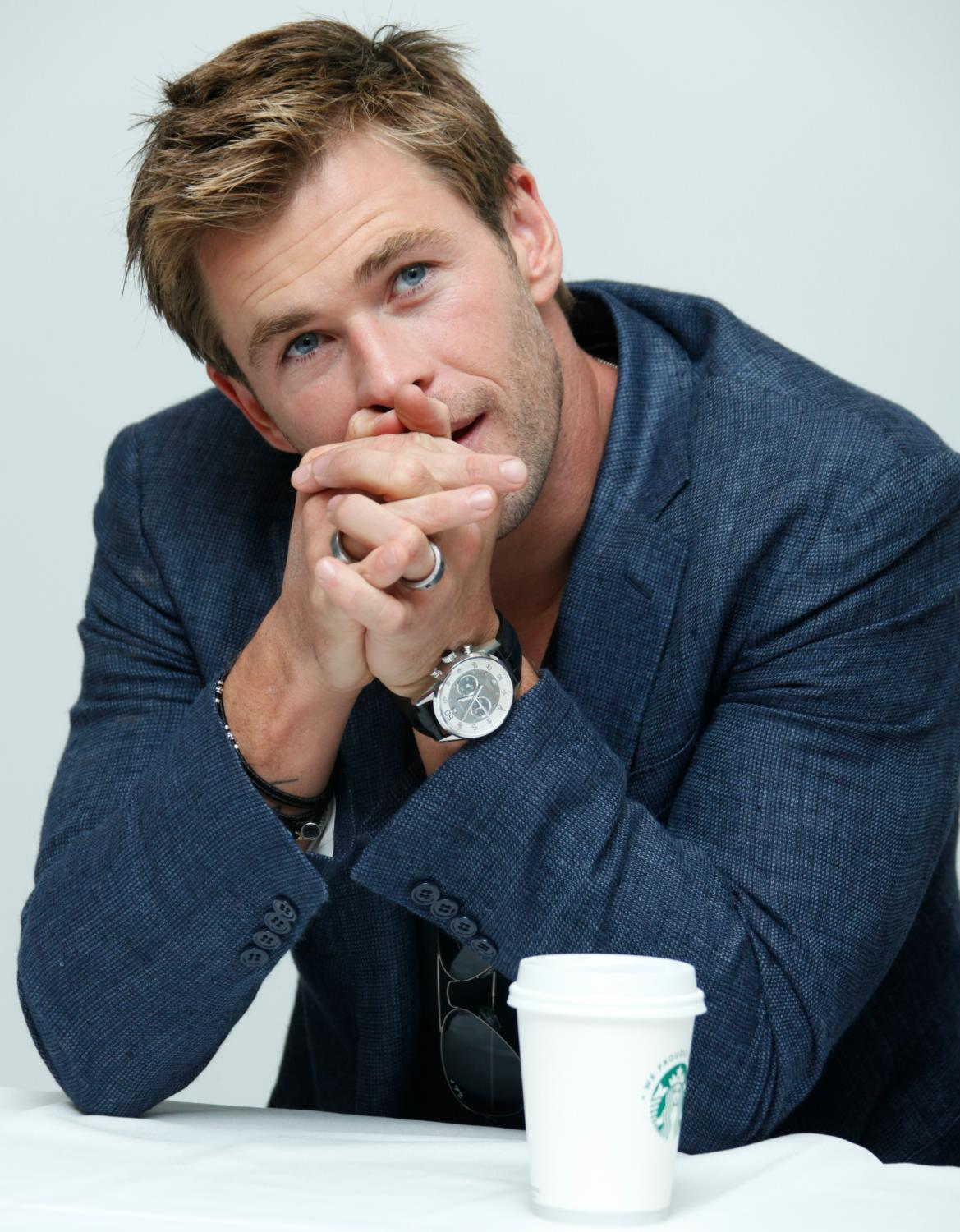 Chris Hemsworth at The Avengers: Age of Ultron Press Conference-2