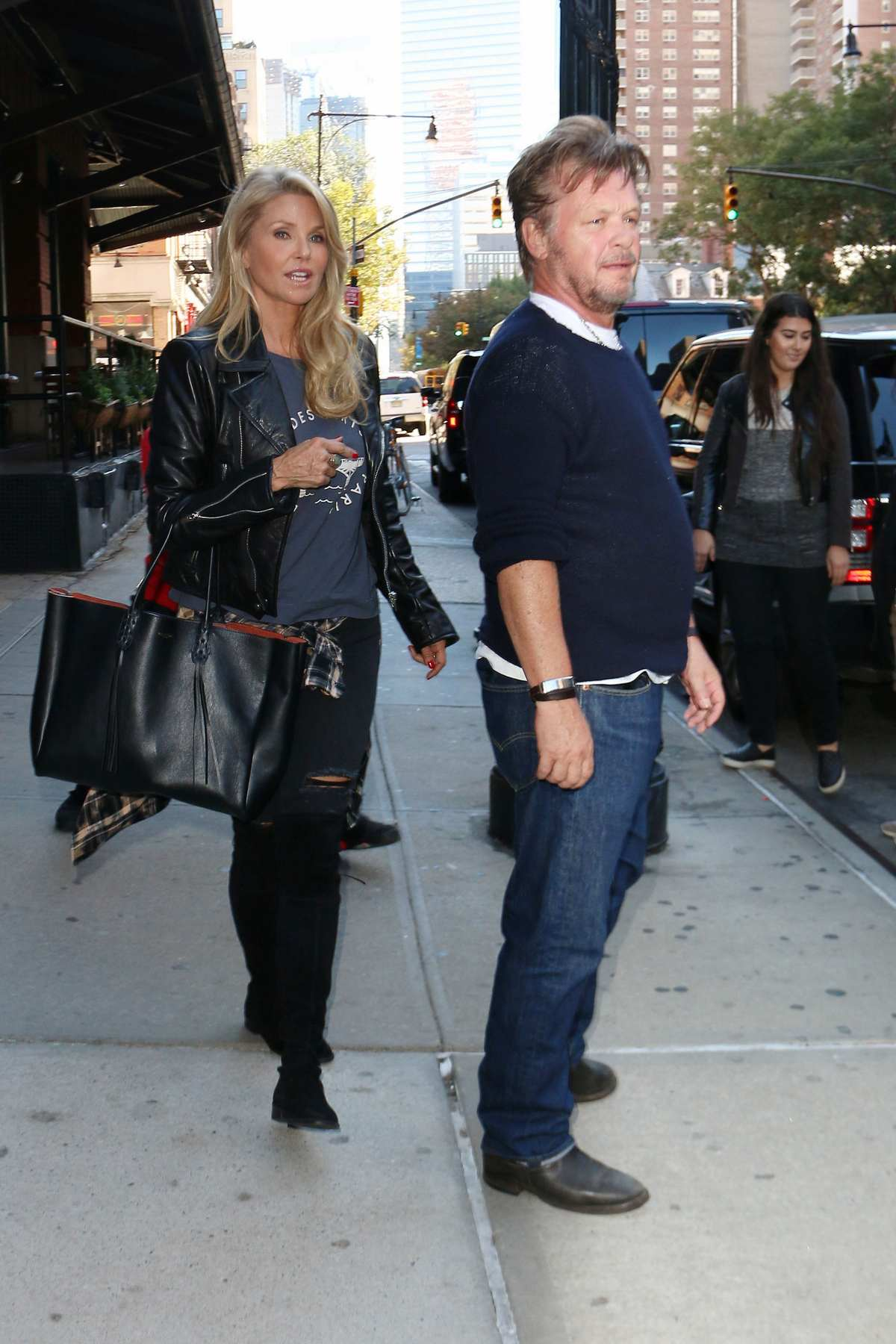 Christie Brinkley and John Mellencamp Leaving Greenwich Hotel-1