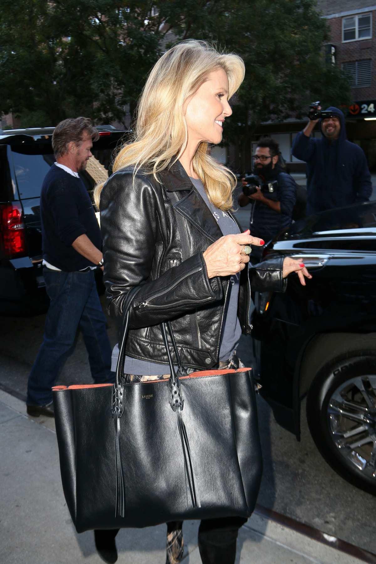 Christie Brinkley and John Mellencamp Leaving Greenwich Hotel-2