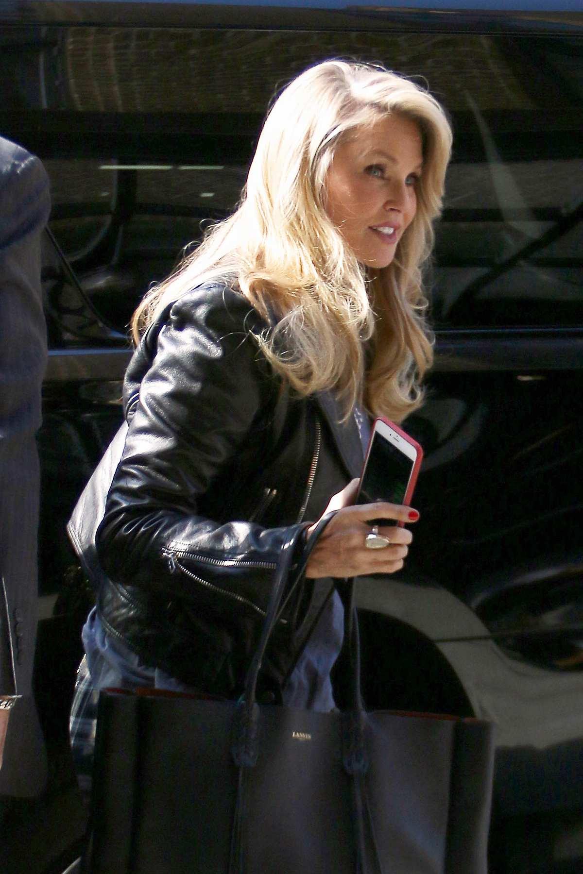 Christie Brinkley and John Mellencamp Leaving Greenwich Hotel-3