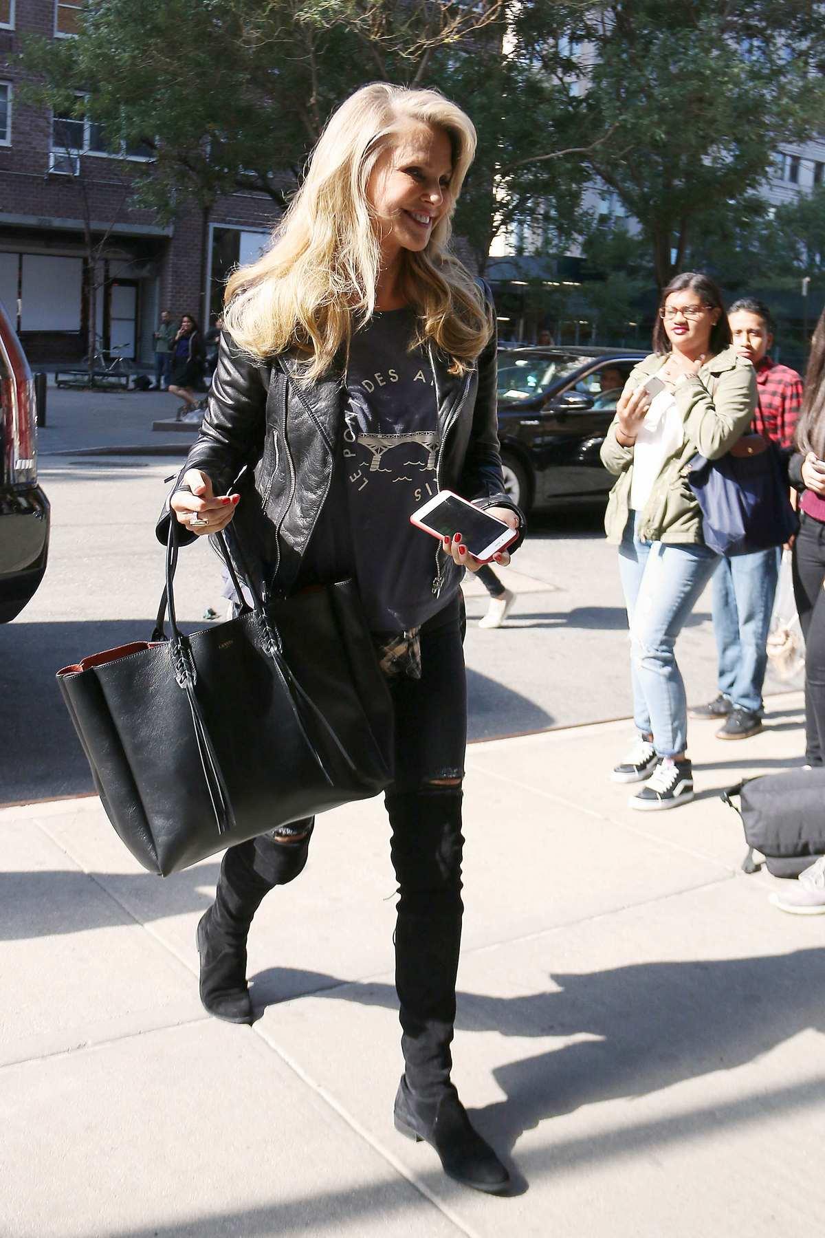 Christie Brinkley and John Mellencamp Leaving Greenwich Hotel-4