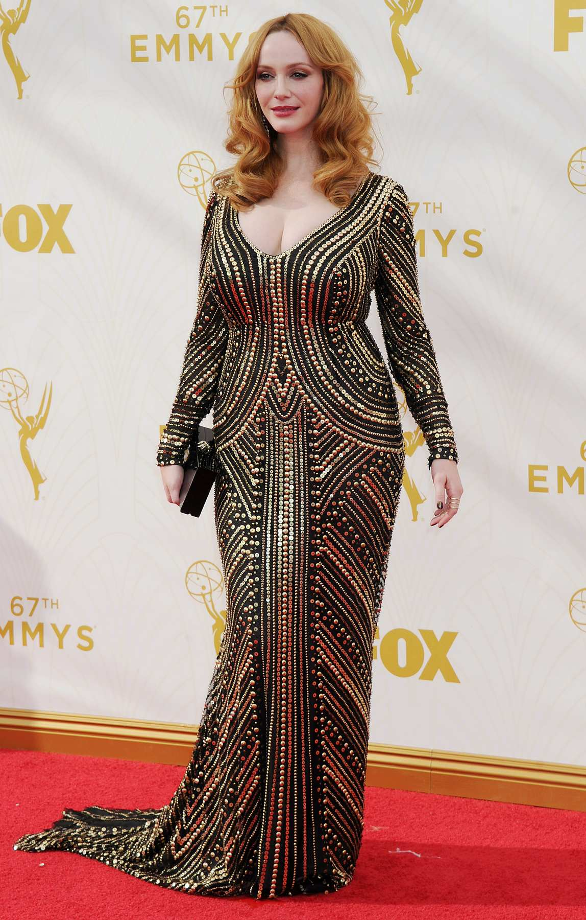 Christina Hendricks Arrives at Annual Primetime Emmy Awards-1