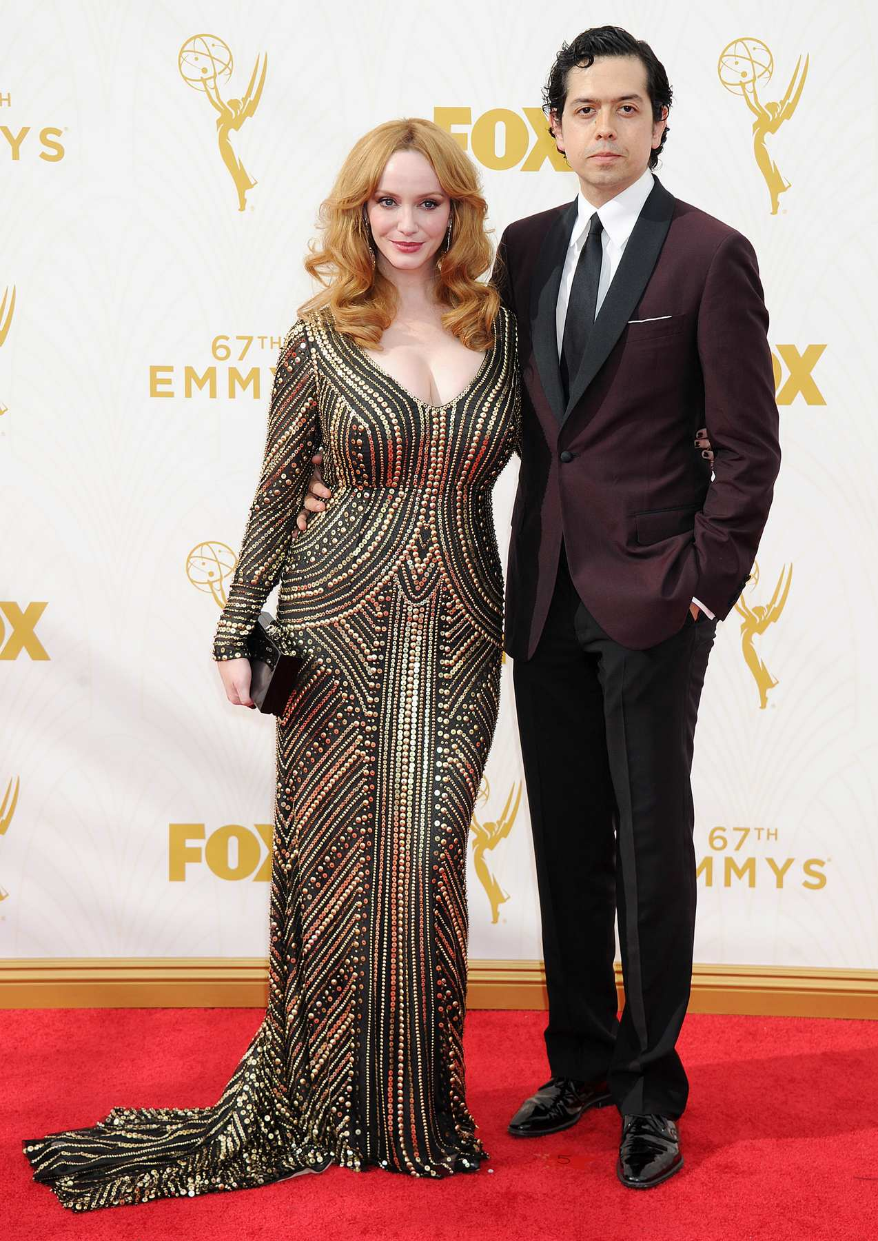 Christina Hendricks Arrives at Annual Primetime Emmy Awards-4