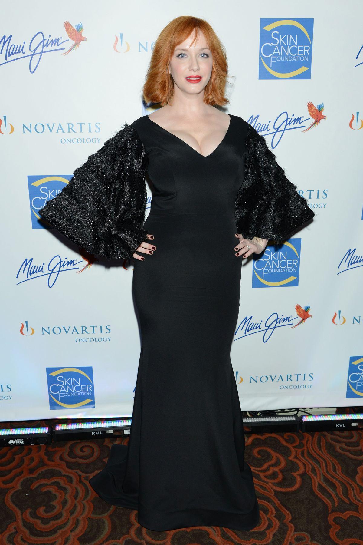 Christina Hendricks at The Skin Cancer Foundation Gala-1