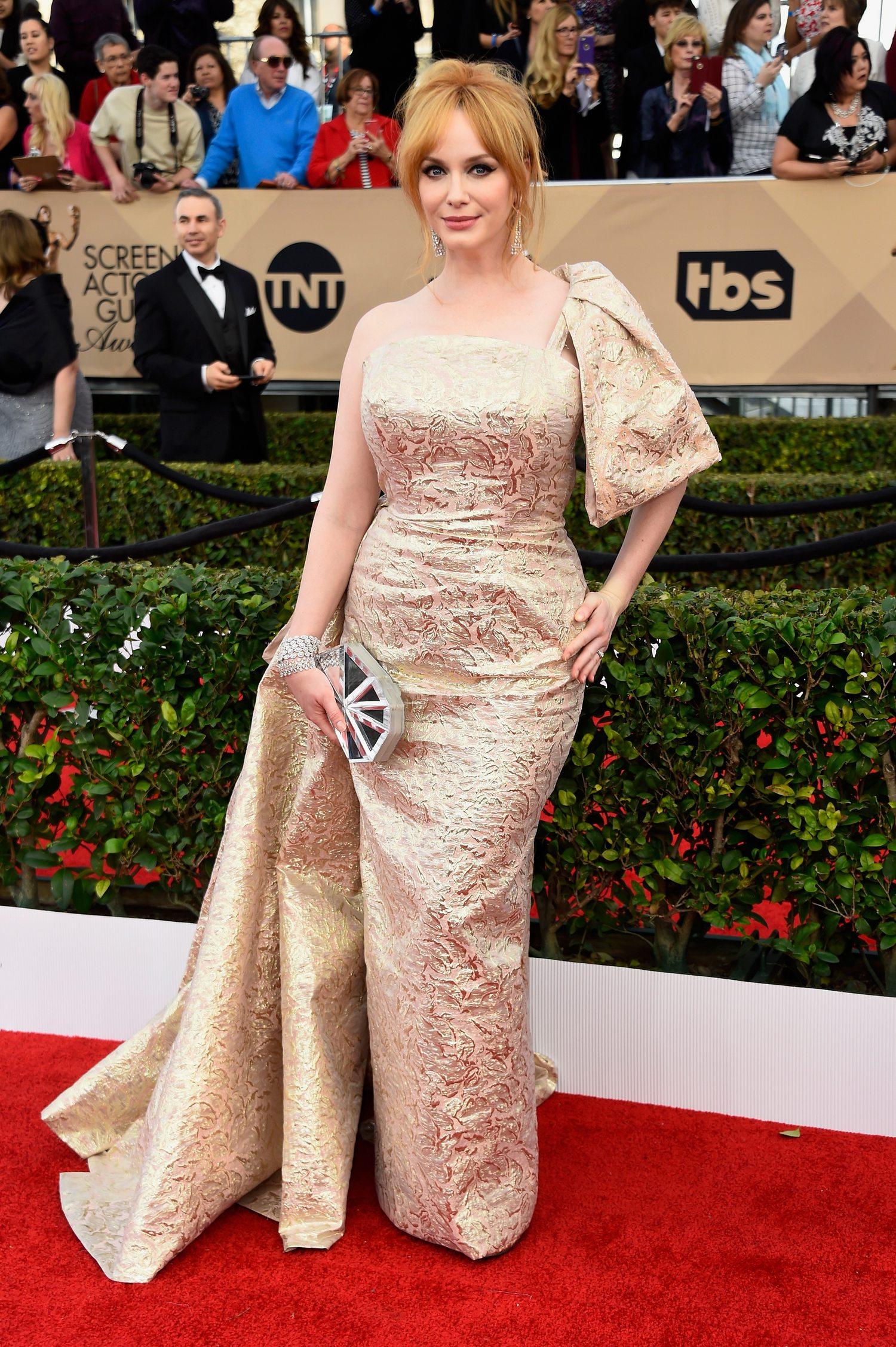 Christina Hendricks attendse Annual Screen Actors Guild Awards-4