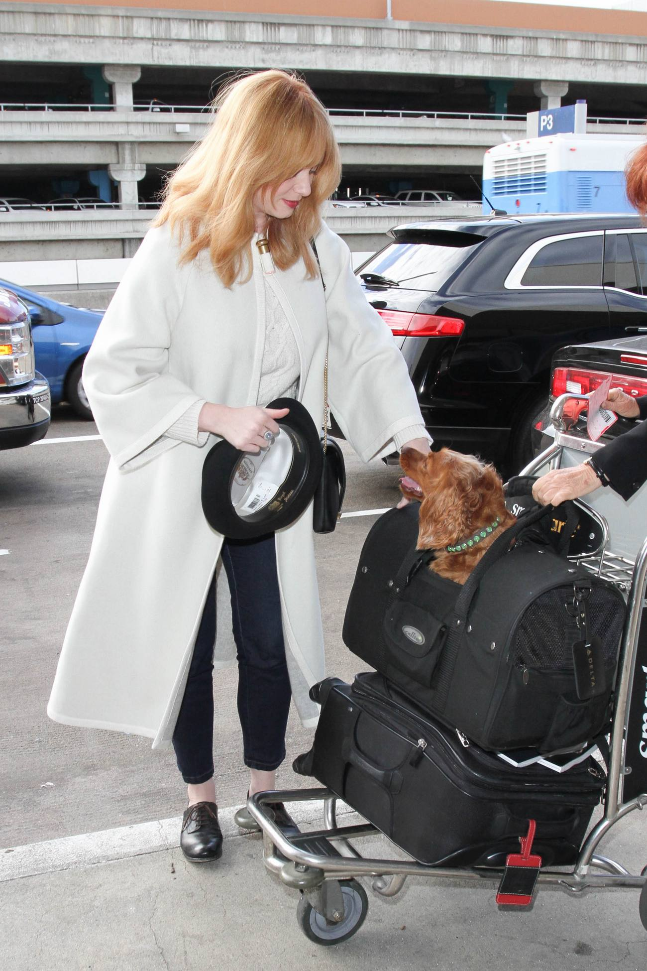 Christina Hendricks is seen at LAX-3