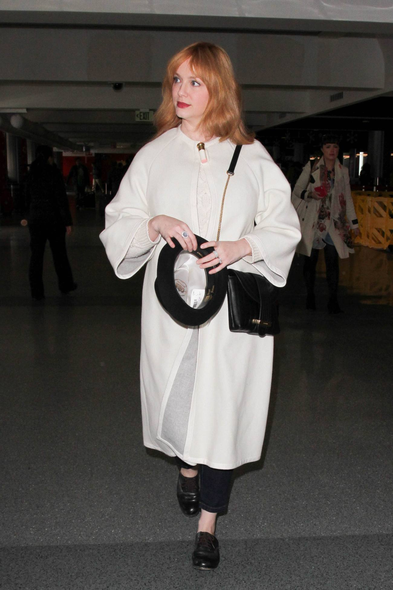 Christina Hendricks is seen at LAX-4