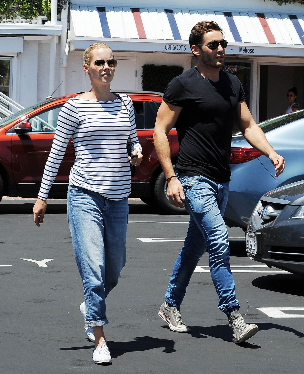 Claire Holt and Matt Kaplan Leave Fred Segal-3