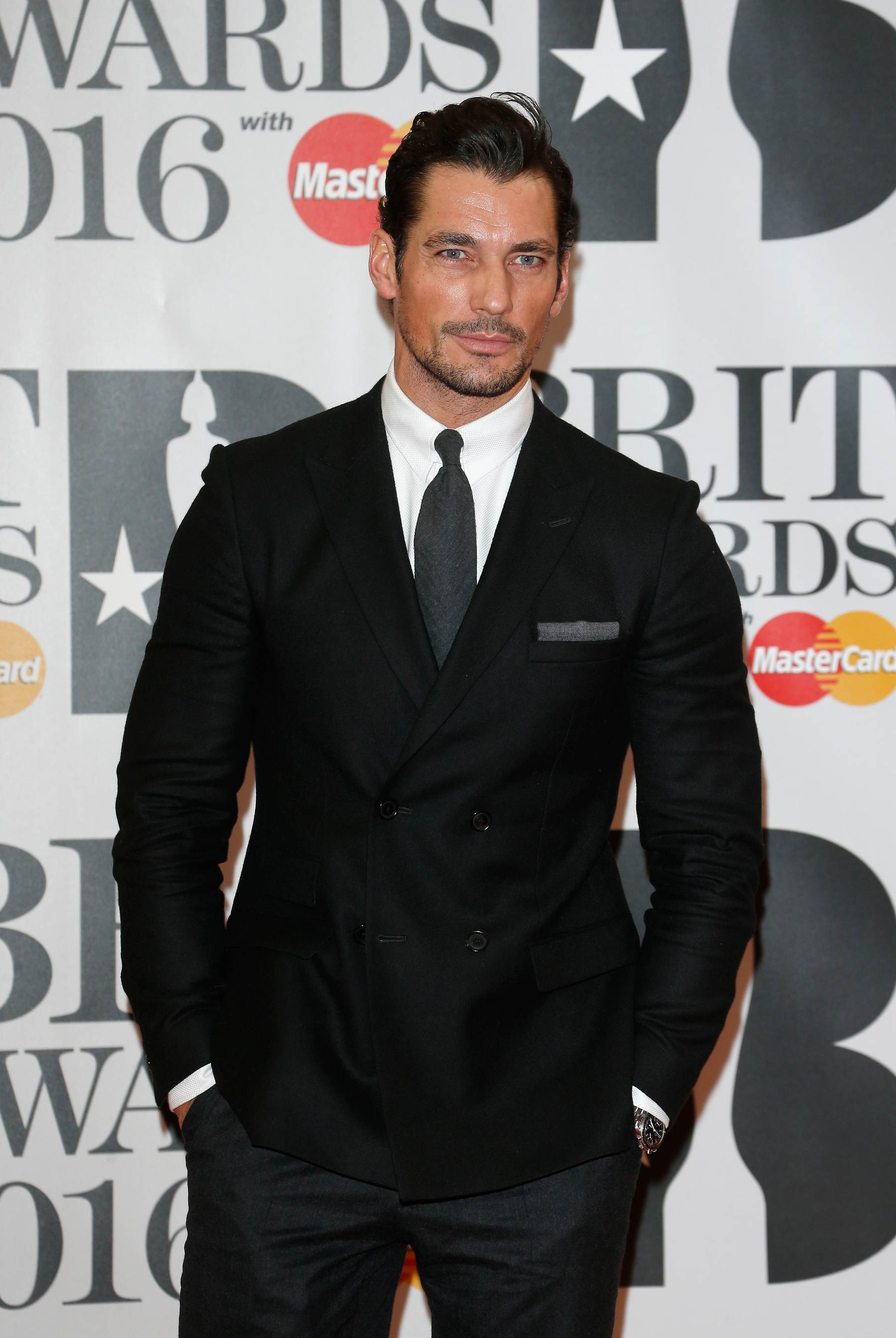 David Gandy arrives for Brit Awards