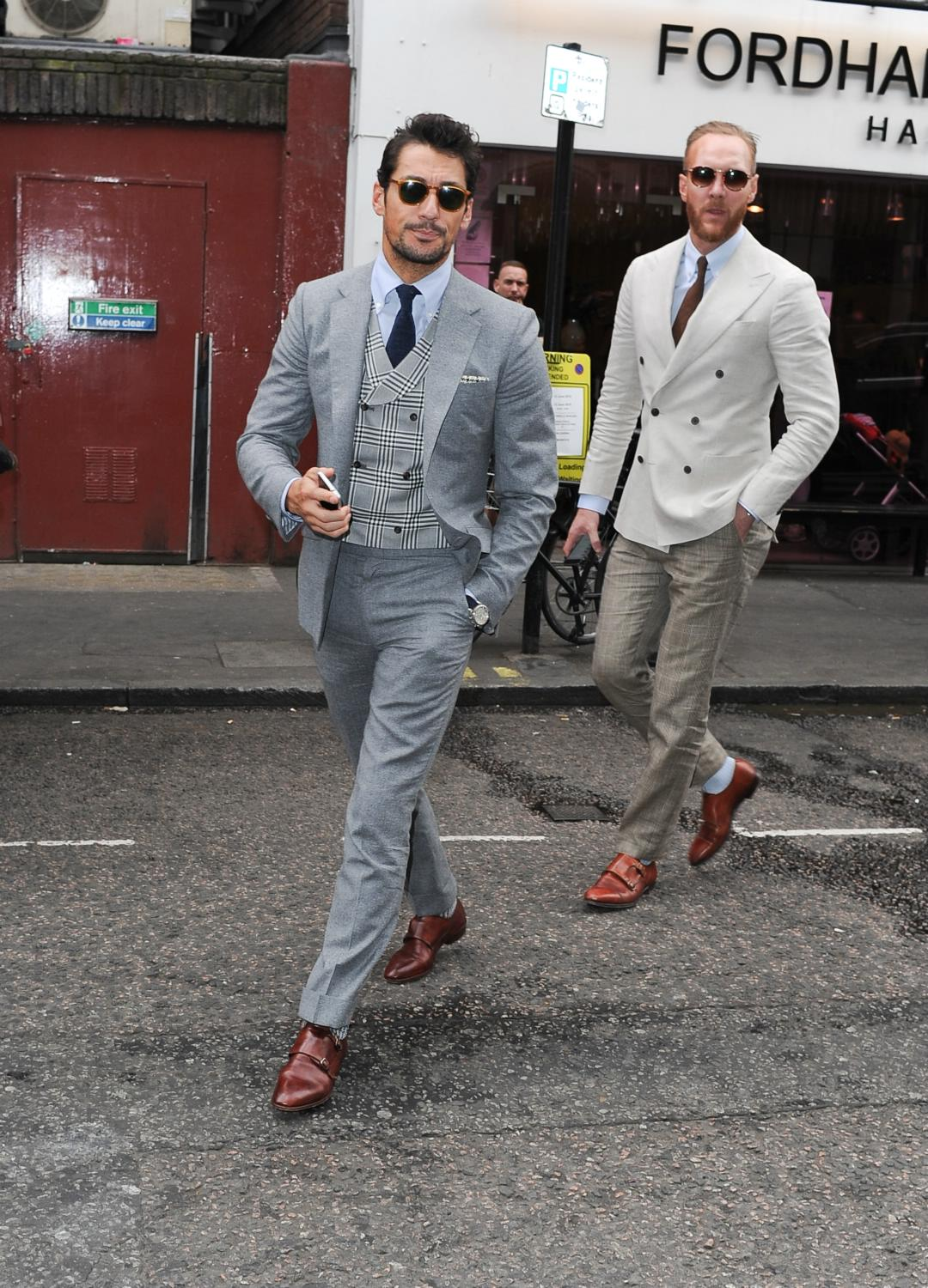David Gandy Out in SoHo