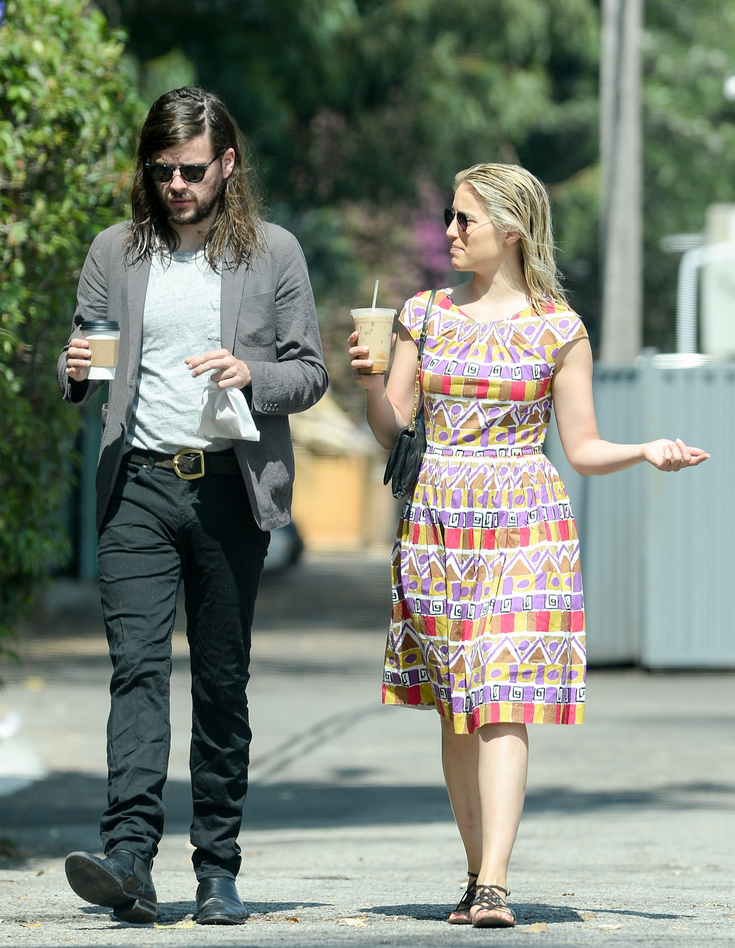 Dianna Agron and Winston Marshall Romantic Stroll in LA-1