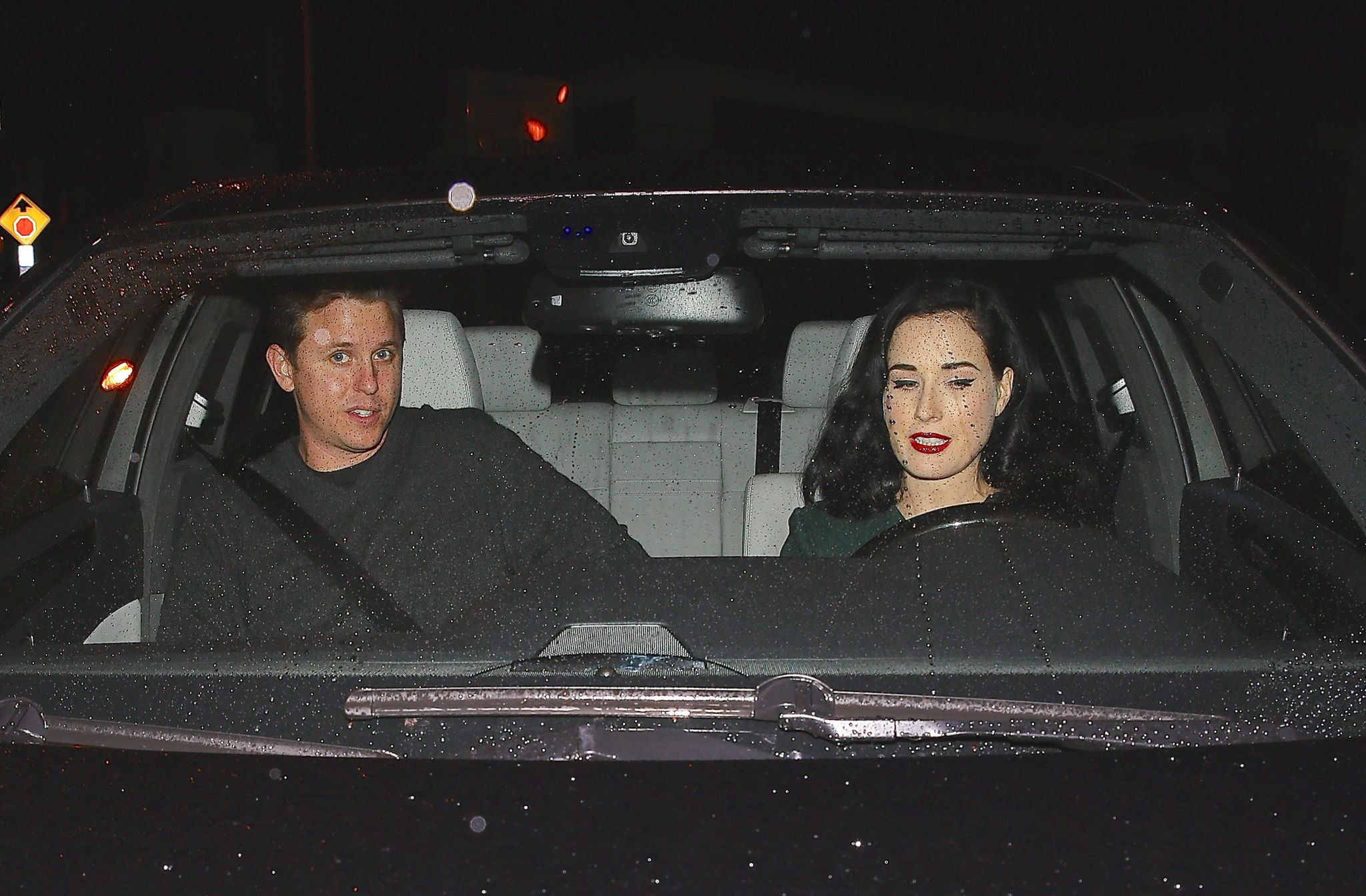 Dita Von Teese at Craigs in West Hollywood-2