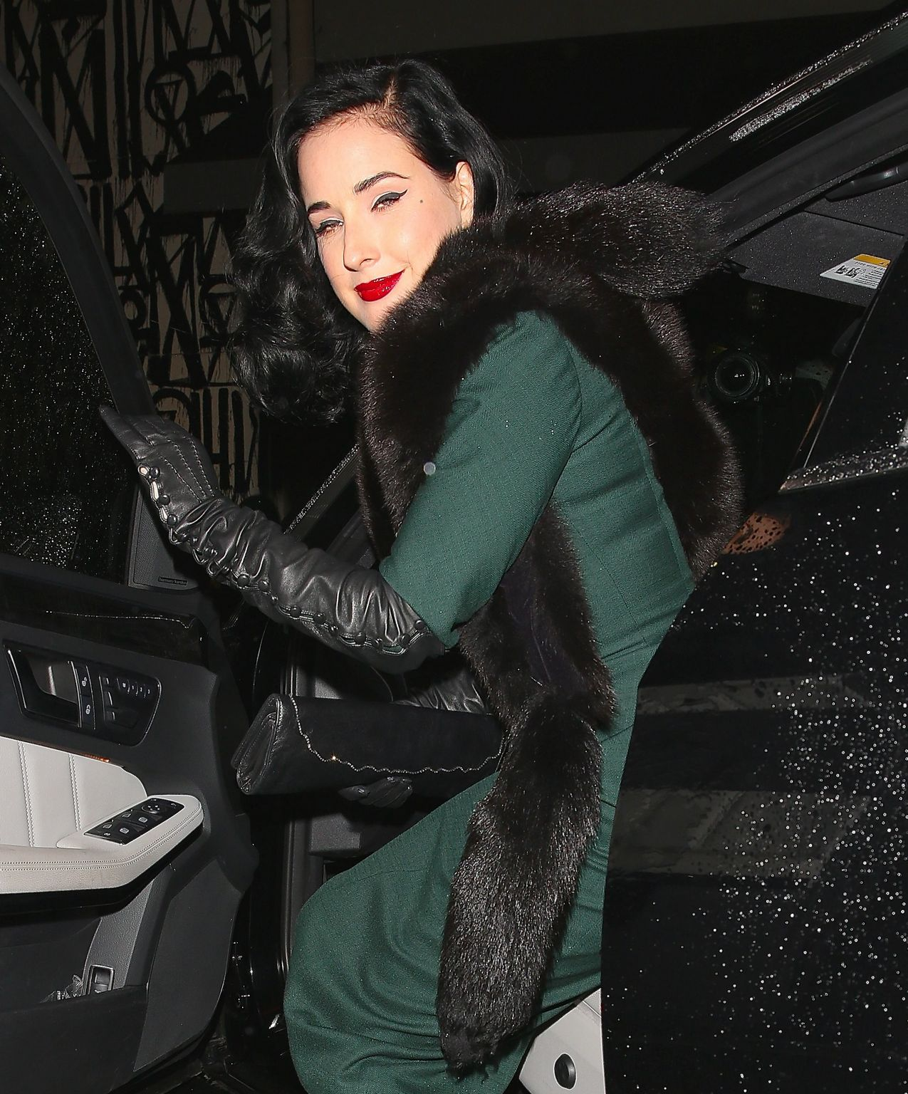 Dita Von Teese at Craigs in West Hollywood-4