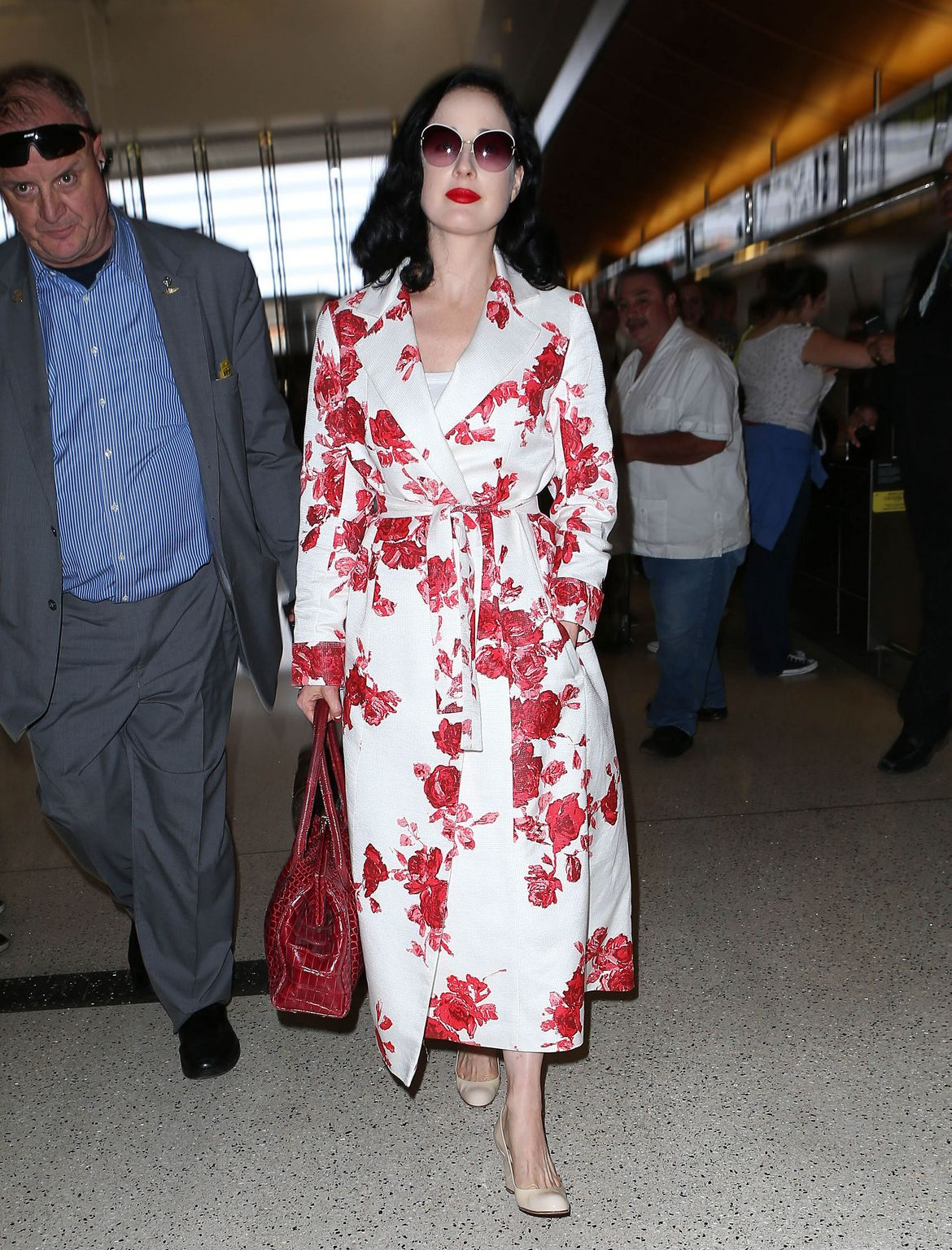 Dita Von Teese at LAX airport in Los Angeles-1