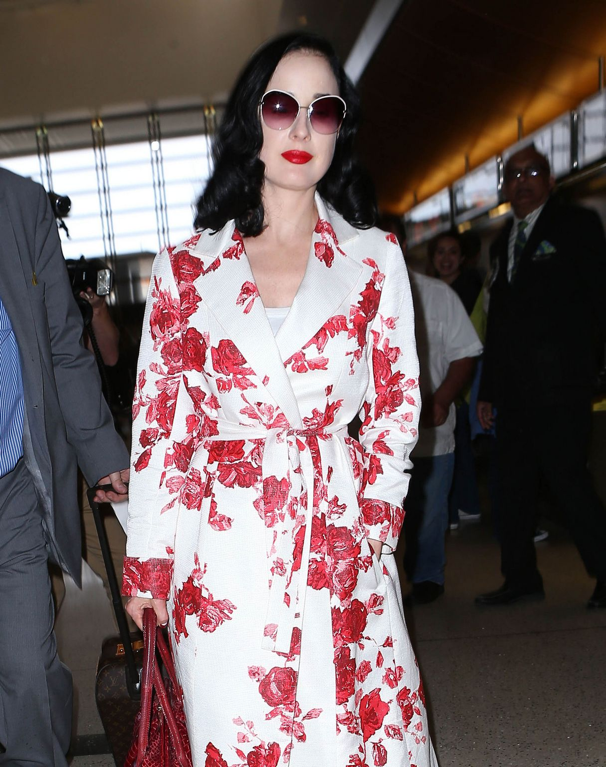 Dita Von Teese at LAX airport in Los Angeles-2