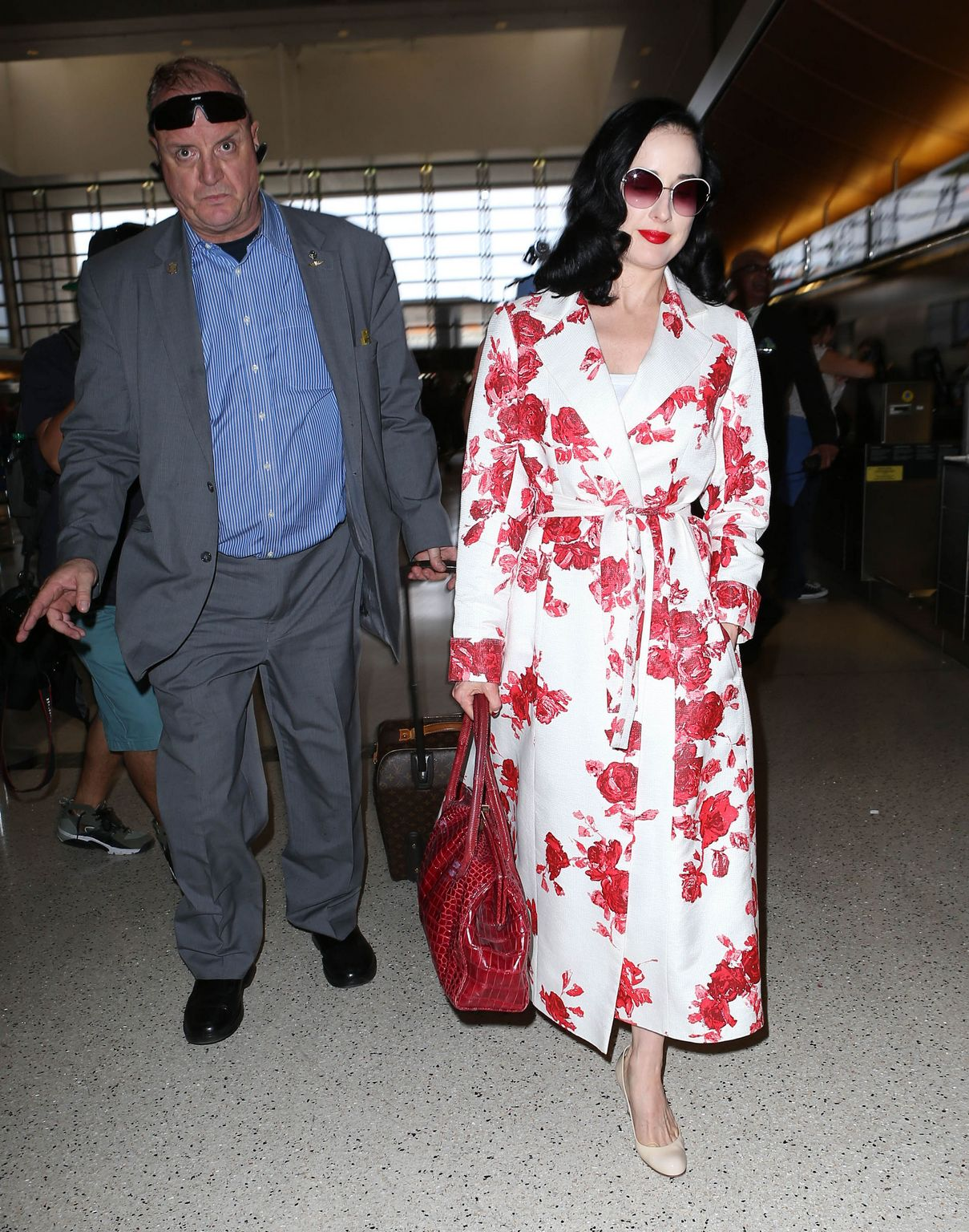 Dita Von Teese at LAX airport in Los Angeles-3