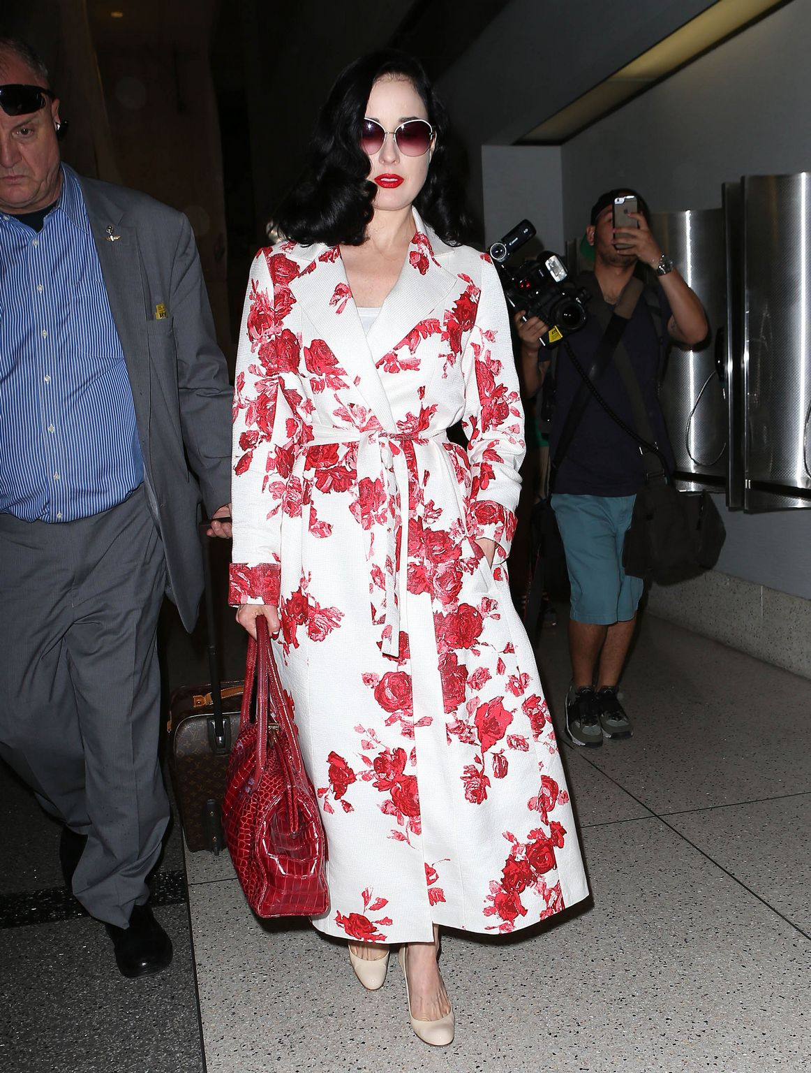 Dita Von Teese at LAX airport in Los Angeles-4