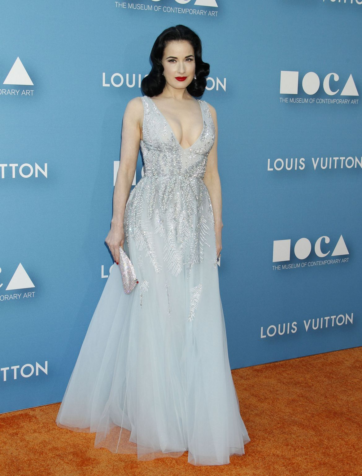 Dita Von Teese at MOCA Gala presented by Louis Vuitton at The Geffen Contemporary-1