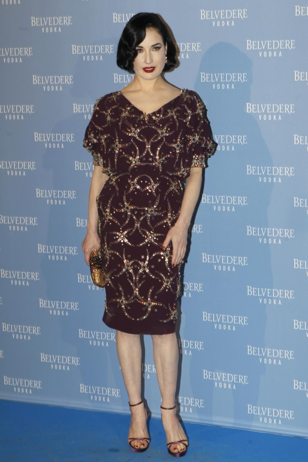 Dita Von Teese Attends Belvedere Vodka Event-1