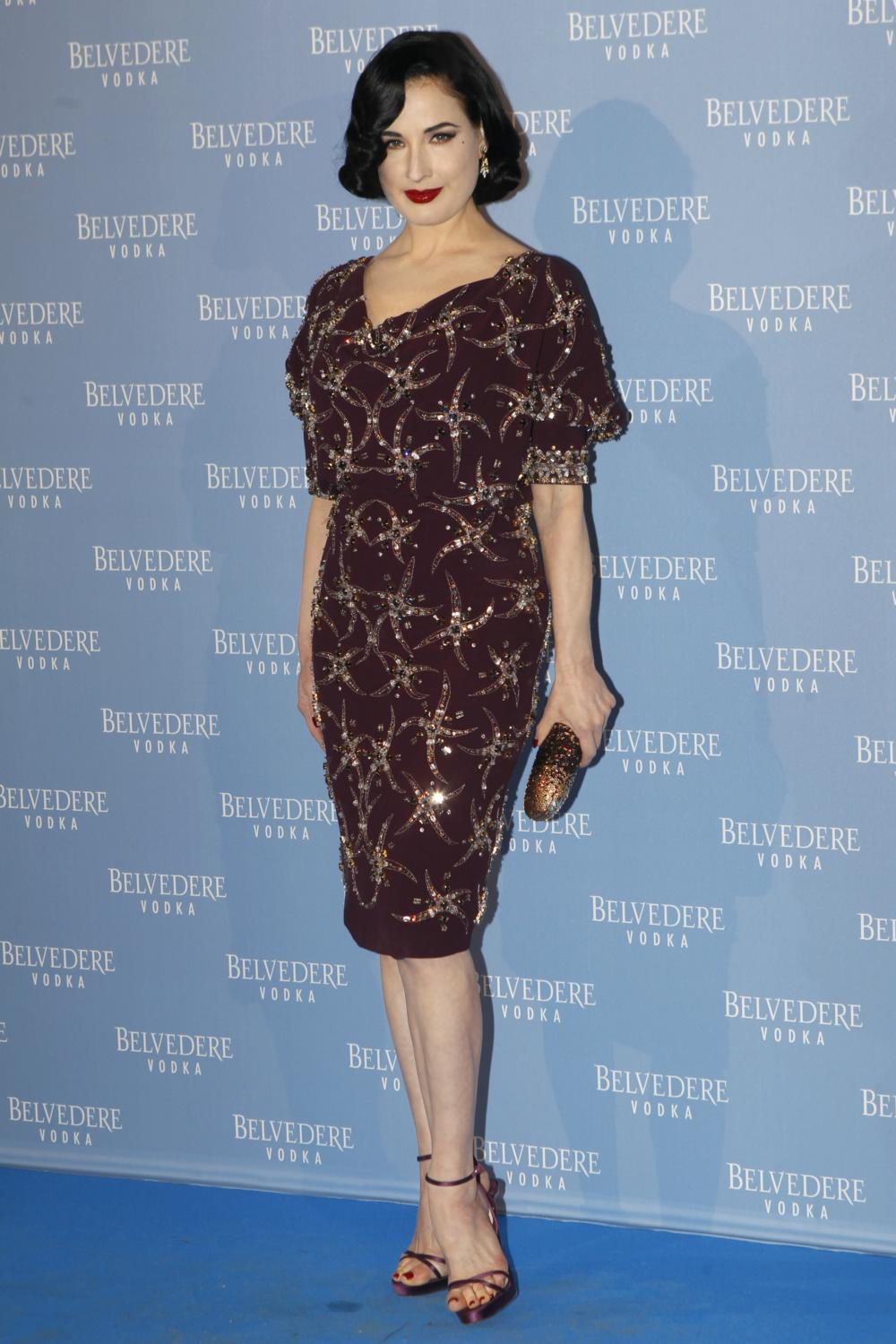Dita Von Teese Attends Belvedere Vodka Event-2