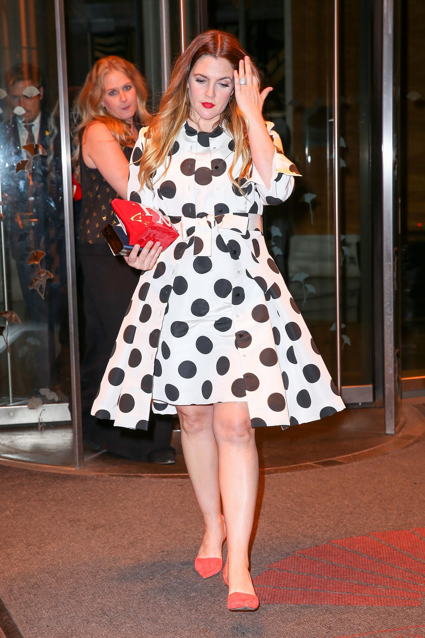 Drew Barrymore in New York City Jan-2