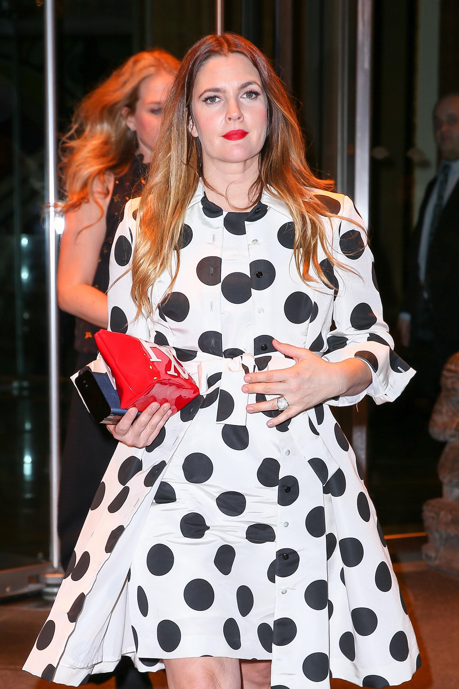 Drew Barrymore in New York City Jan-3