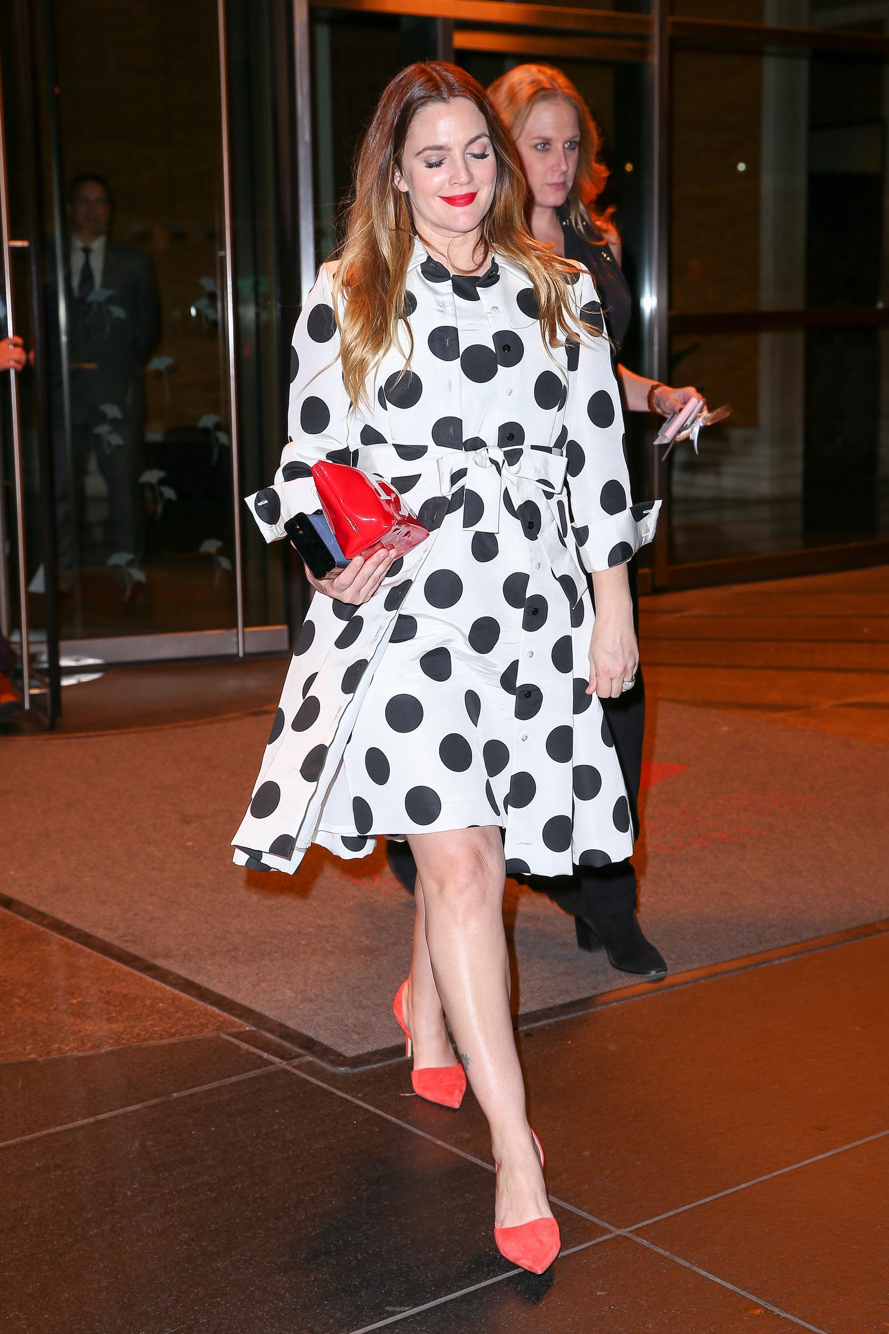 Drew Barrymore in New York City Jan-4